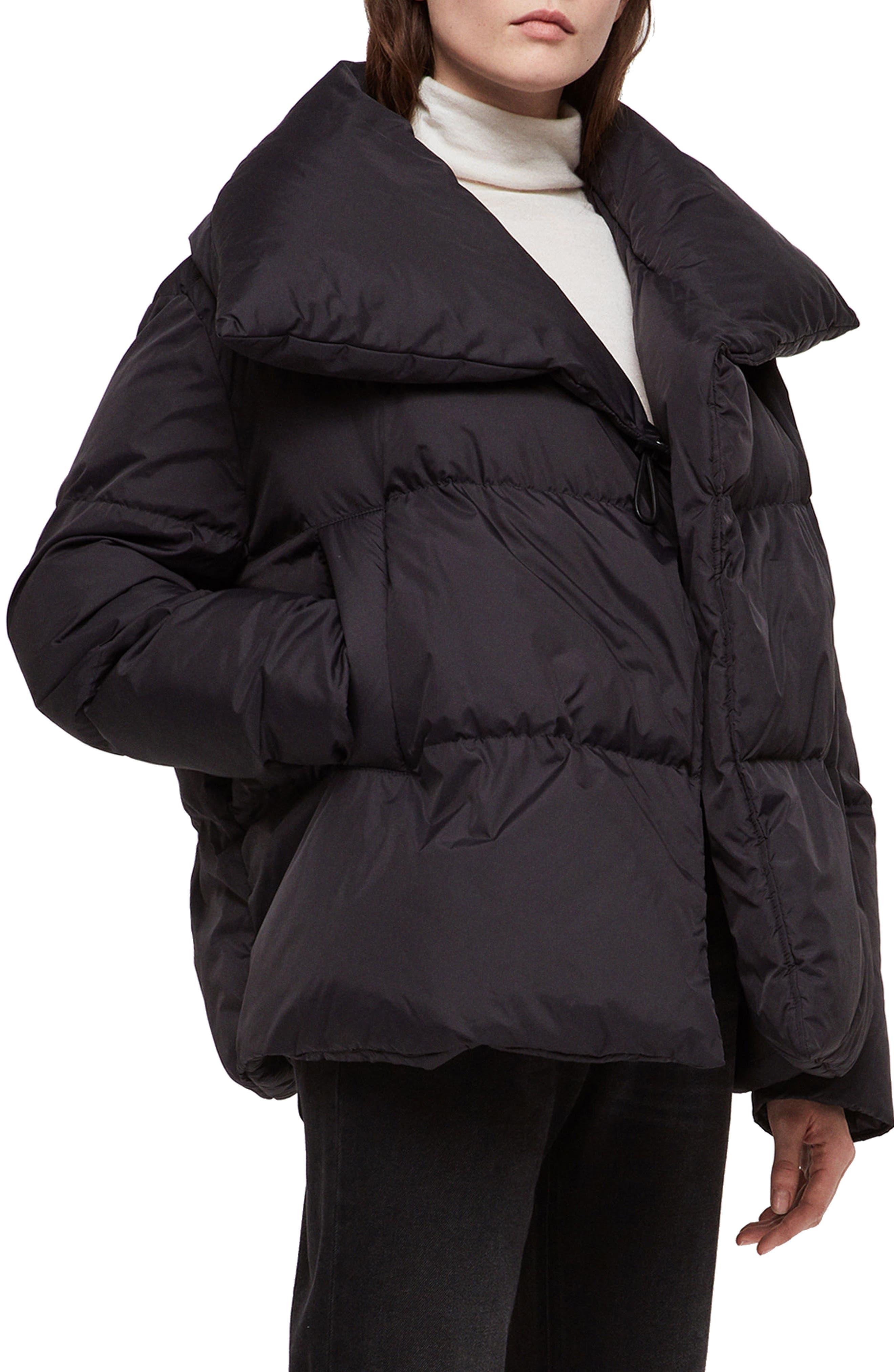 ALLSAINTS, Vrai Avia Puffer Jacket, Main thumbnail 1, color, 001