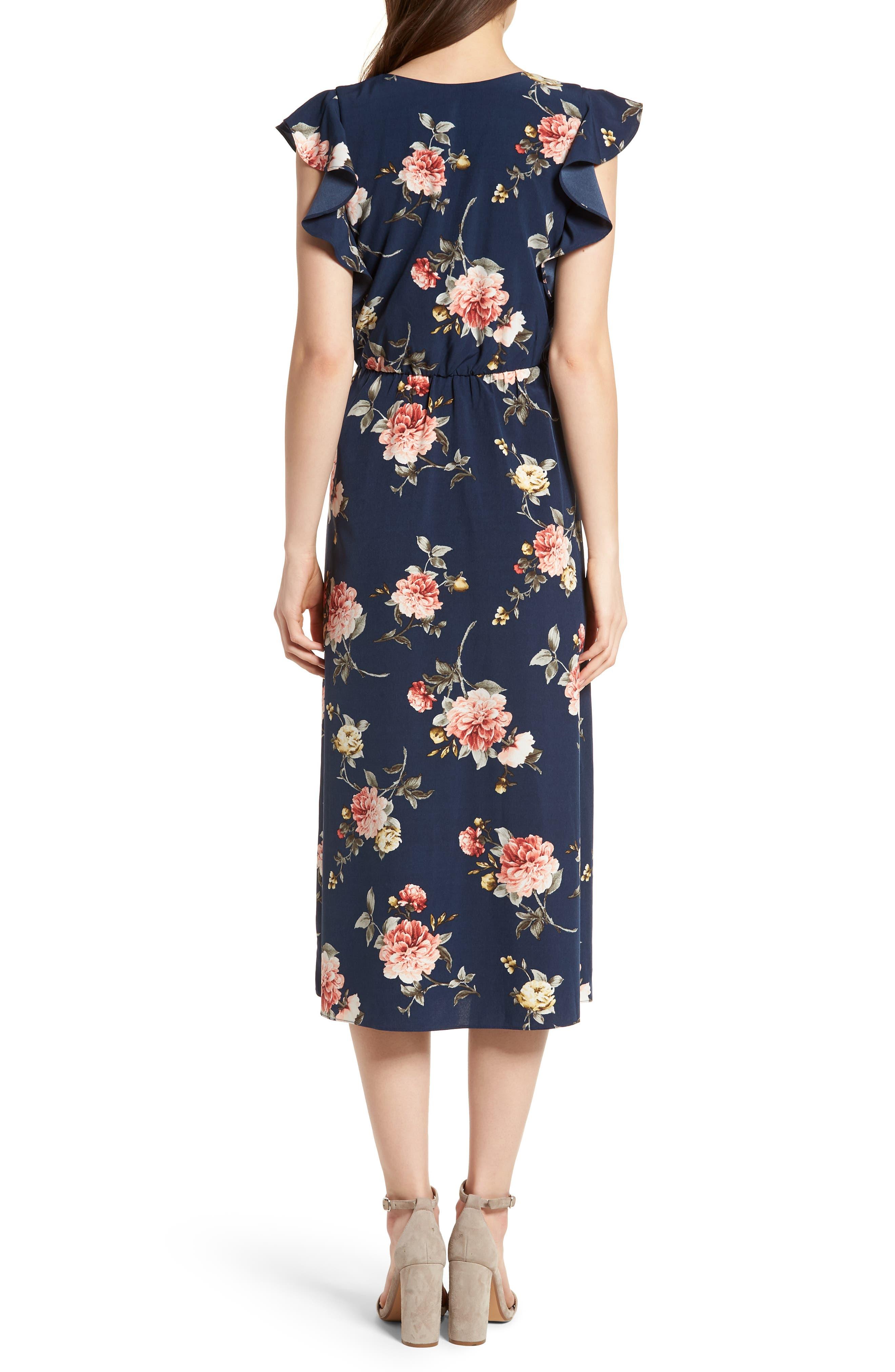 SOPRANO, Wrap Midi Dress, Alternate thumbnail 2, color, 400