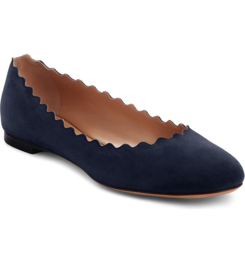 4c6a600245e Chloé  Lauren  Scalloped Ballet Flat (Women)