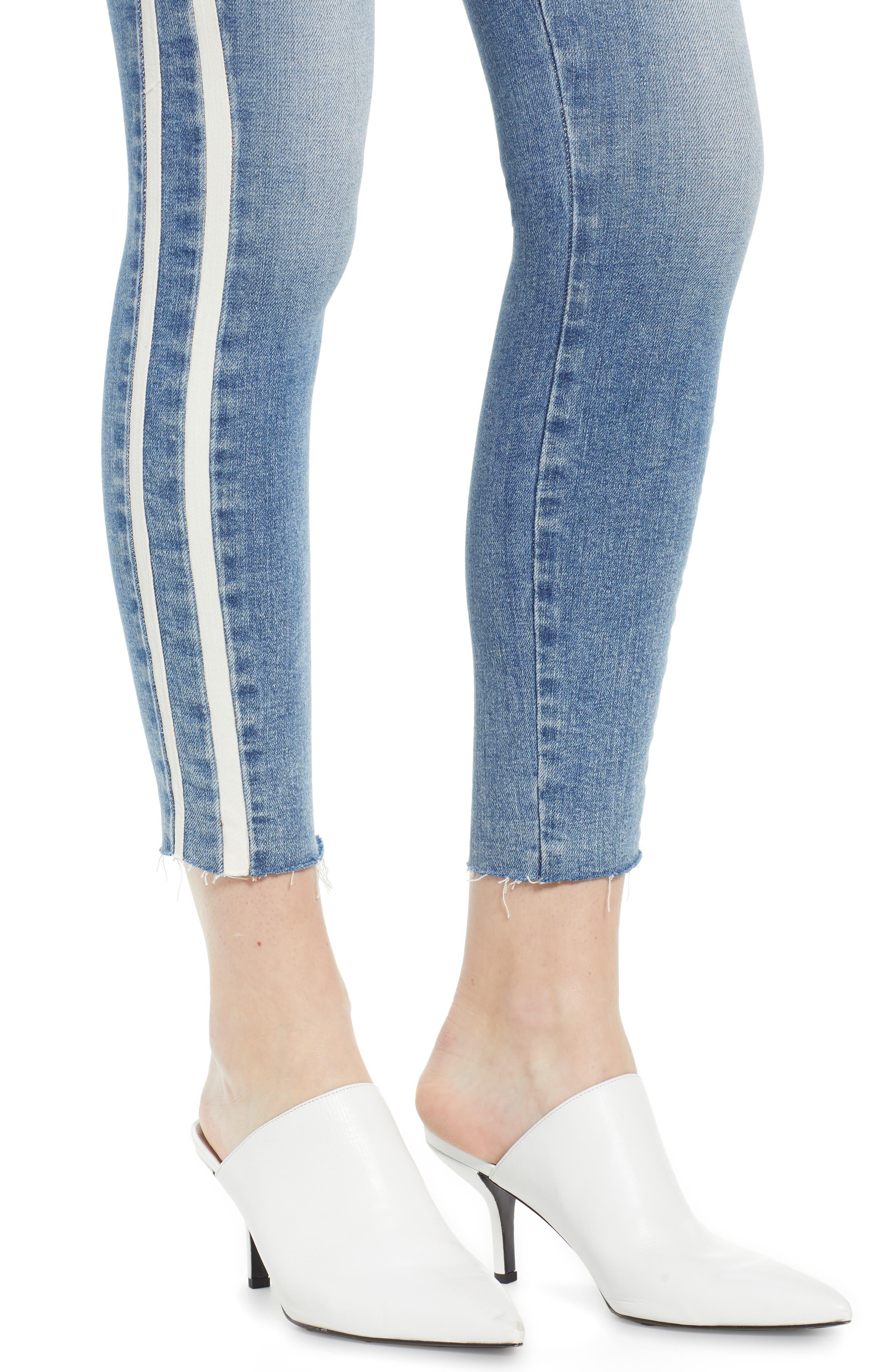 7 FOR ALL MANKIND<SUP>®</SUP>, Side Stripe Ankle Skinny Jeans, Alternate thumbnail 5, color, SLOANE VINTAGE