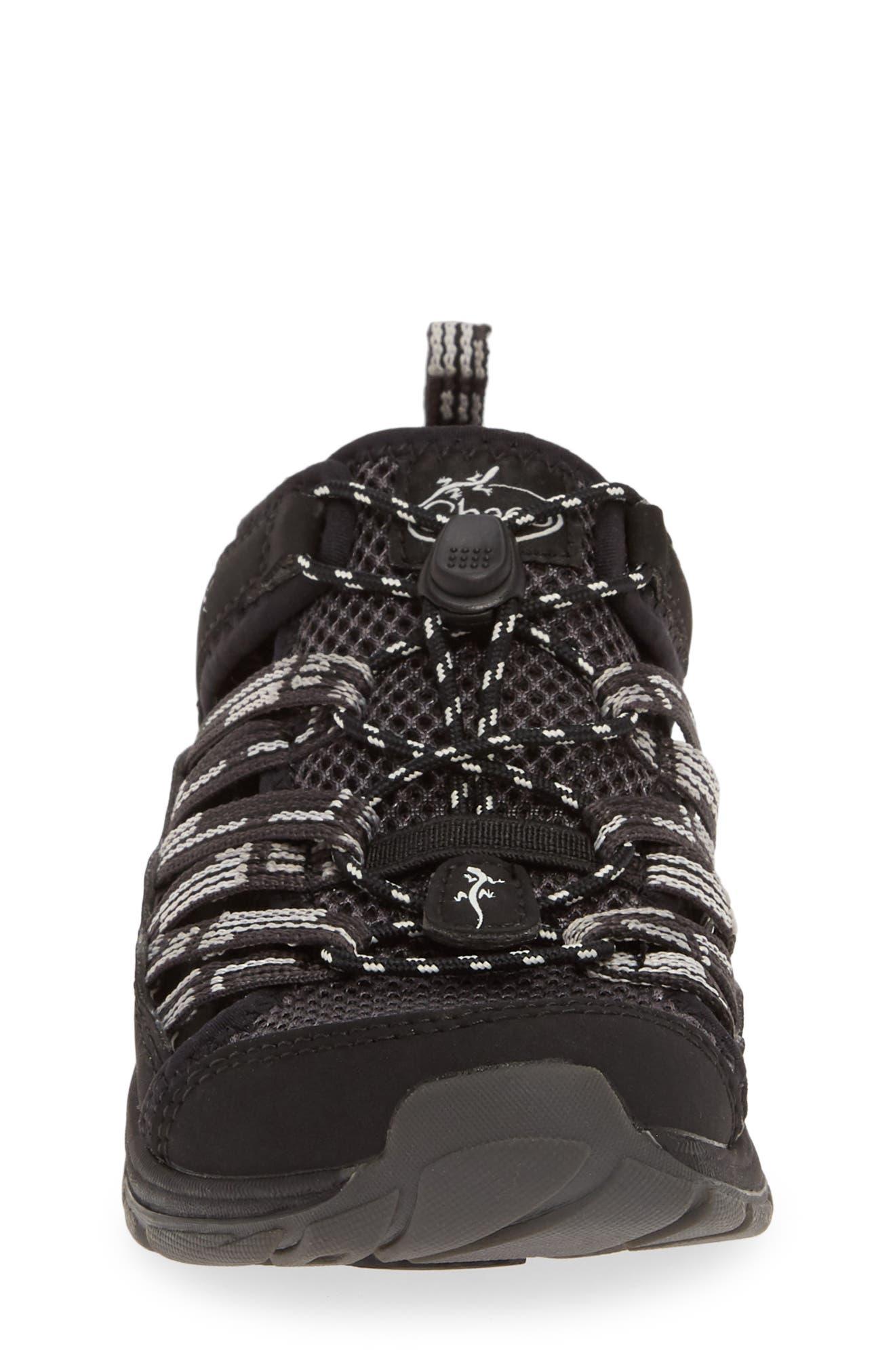 CHACO, Outcross 2 Water Sneaker, Alternate thumbnail 4, color, PAVEMENT BLACK