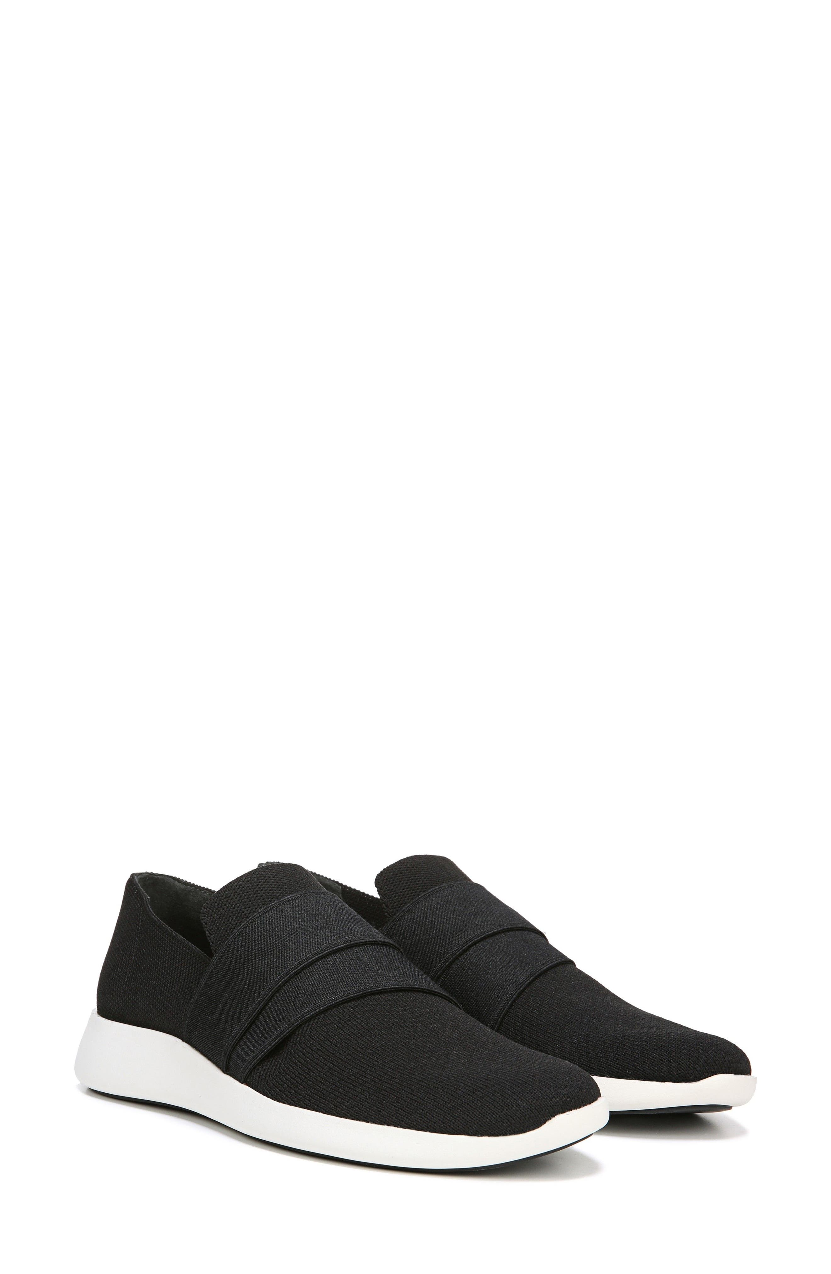 VINCE, Aston Slip-On Sneaker, Alternate thumbnail 7, color, BLACK SOLID KNIT