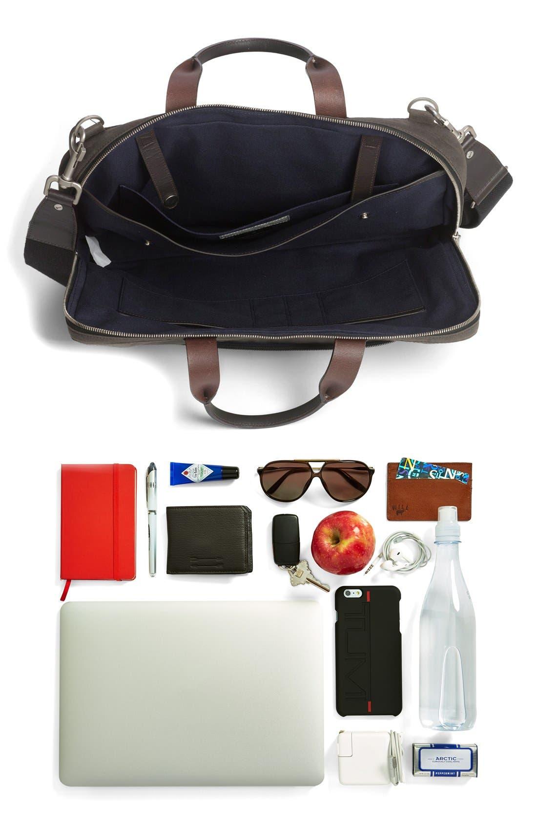 JACK SPADE, 'Waxwear' Briefcase, Alternate thumbnail 2, color, 215