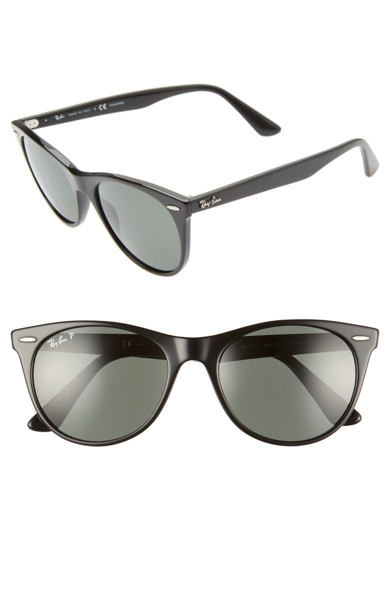 Ray Ban Sunglasses WAYFARER II 55MM SUNGLASSES - BLACK SOLID