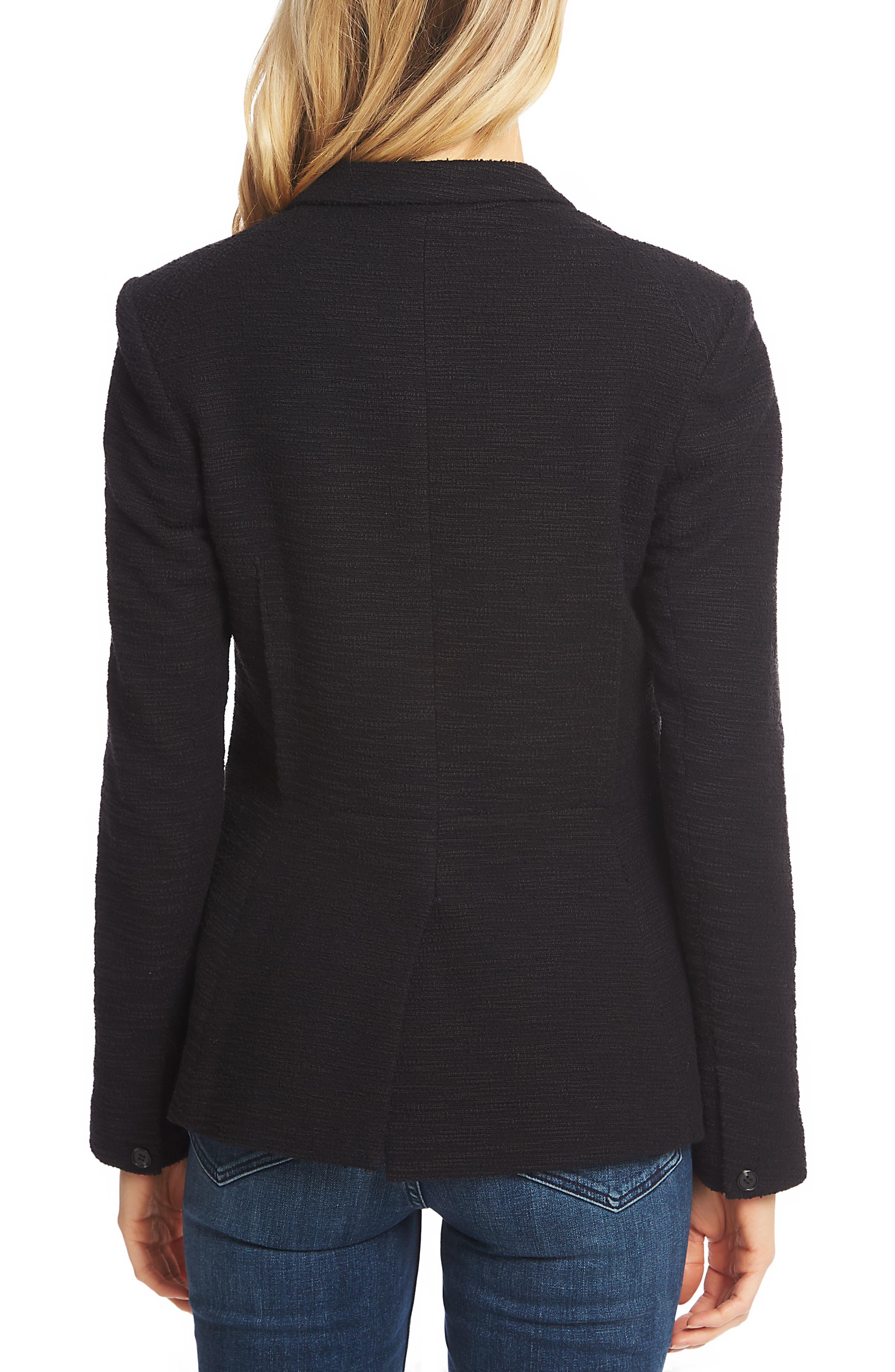 1.STATE, Slub Tweed One-Button Blazer, Alternate thumbnail 2, color, RICH BLACK
