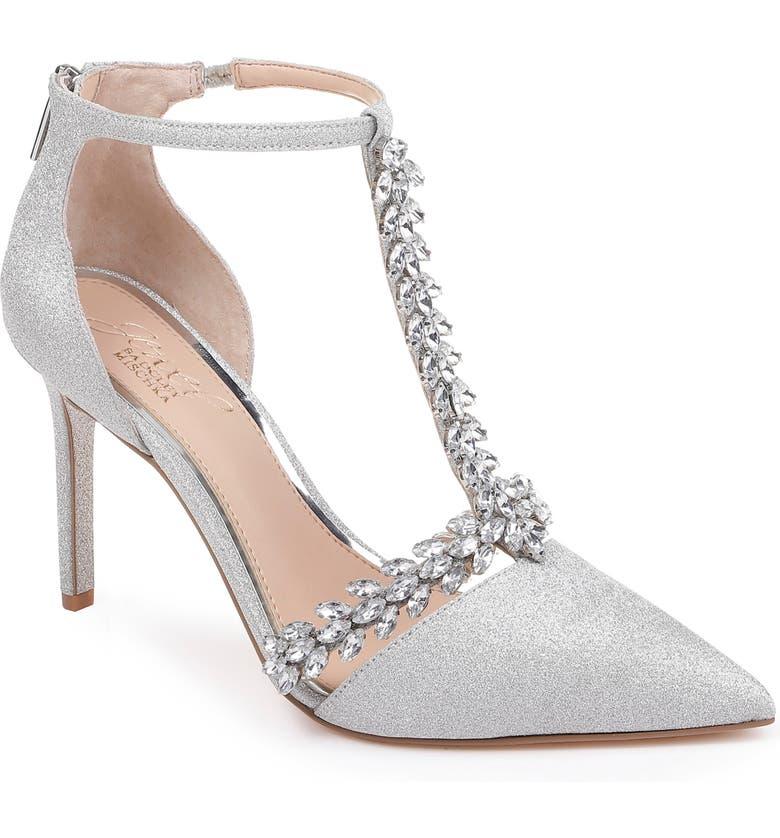 365ddbada6e6 Jewel Badgley Mischka Meena Crystal Embellished T-Strap Pump (Women ...