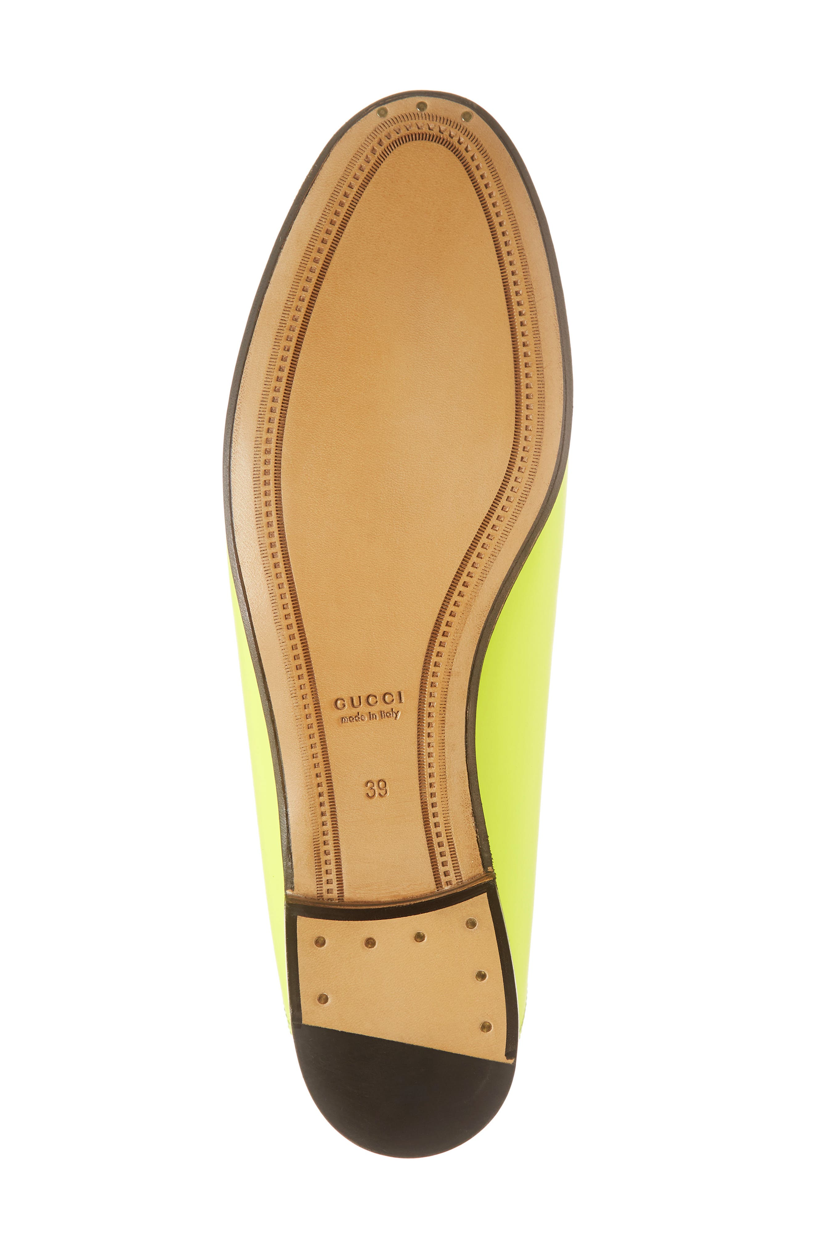 GUCCI, Brixton Convertible Loafer, Alternate thumbnail 6, color, YELLOW FLUO LEATHER