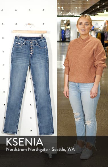 Gwen High Waist Straight Leg Jeans, sales video thumbnail