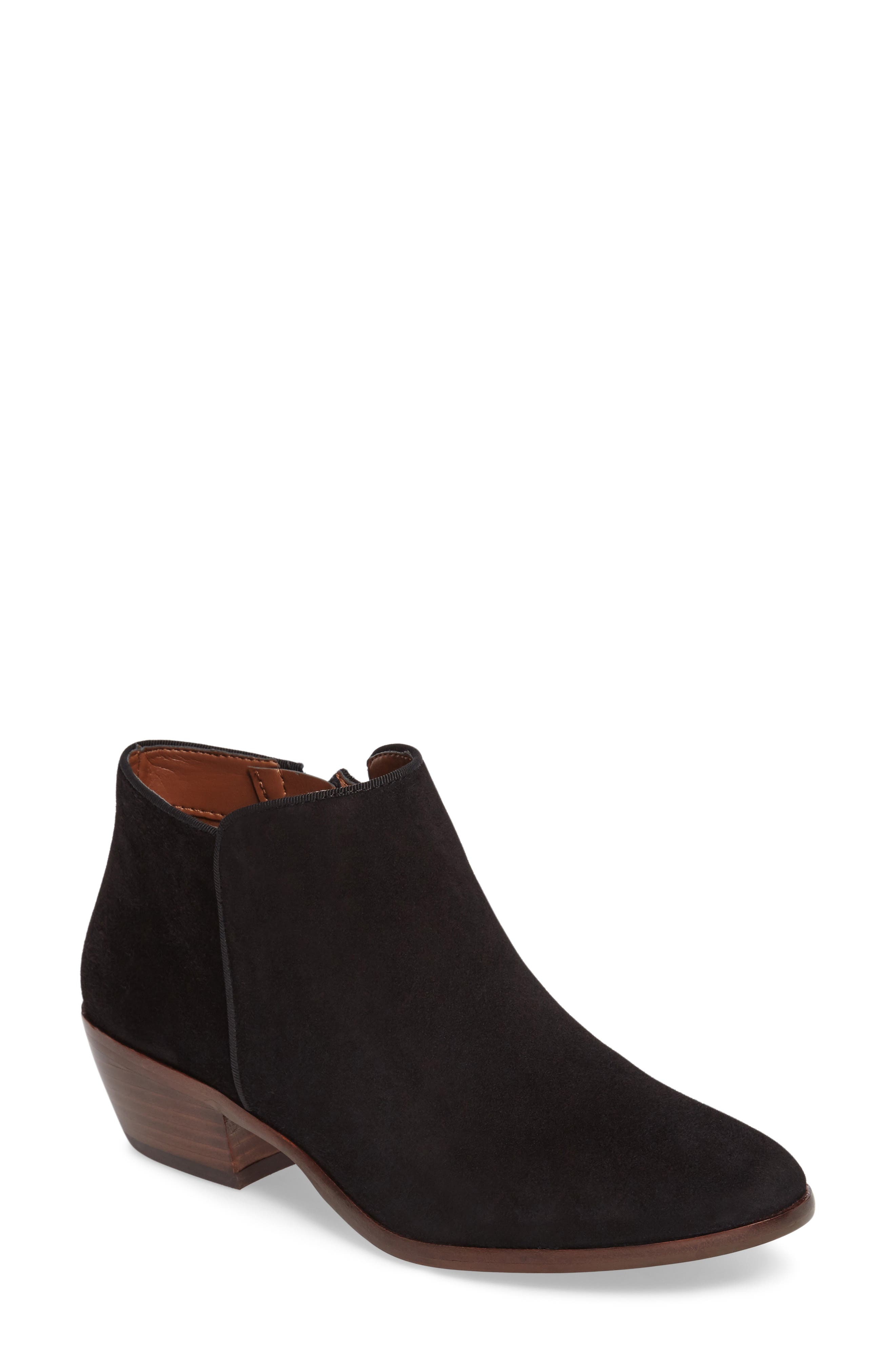 SAM EDELMAN, 'Petty' Chelsea Boot, Main thumbnail 1, color, BLACK SUEDE