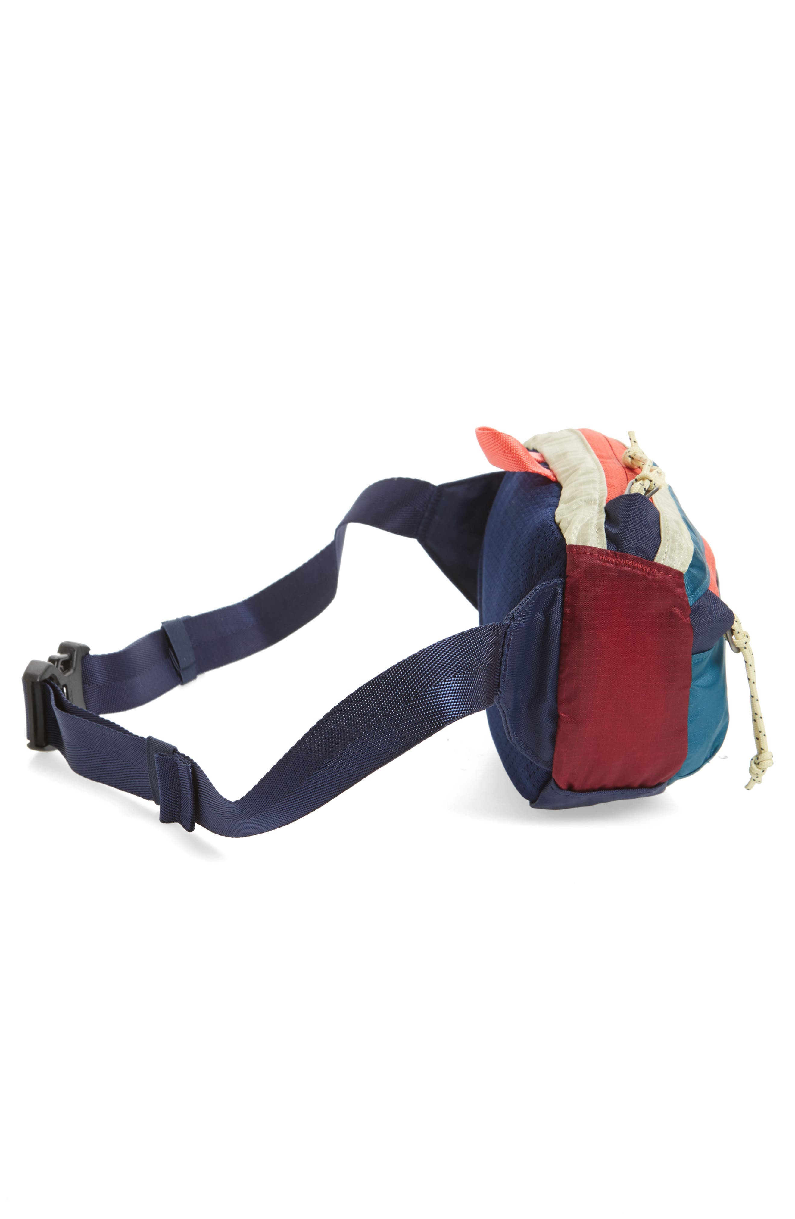 PATAGONIA, Travel Belt Bag, Alternate thumbnail 6, color, PATCHWORK ARROW RED / NAVY