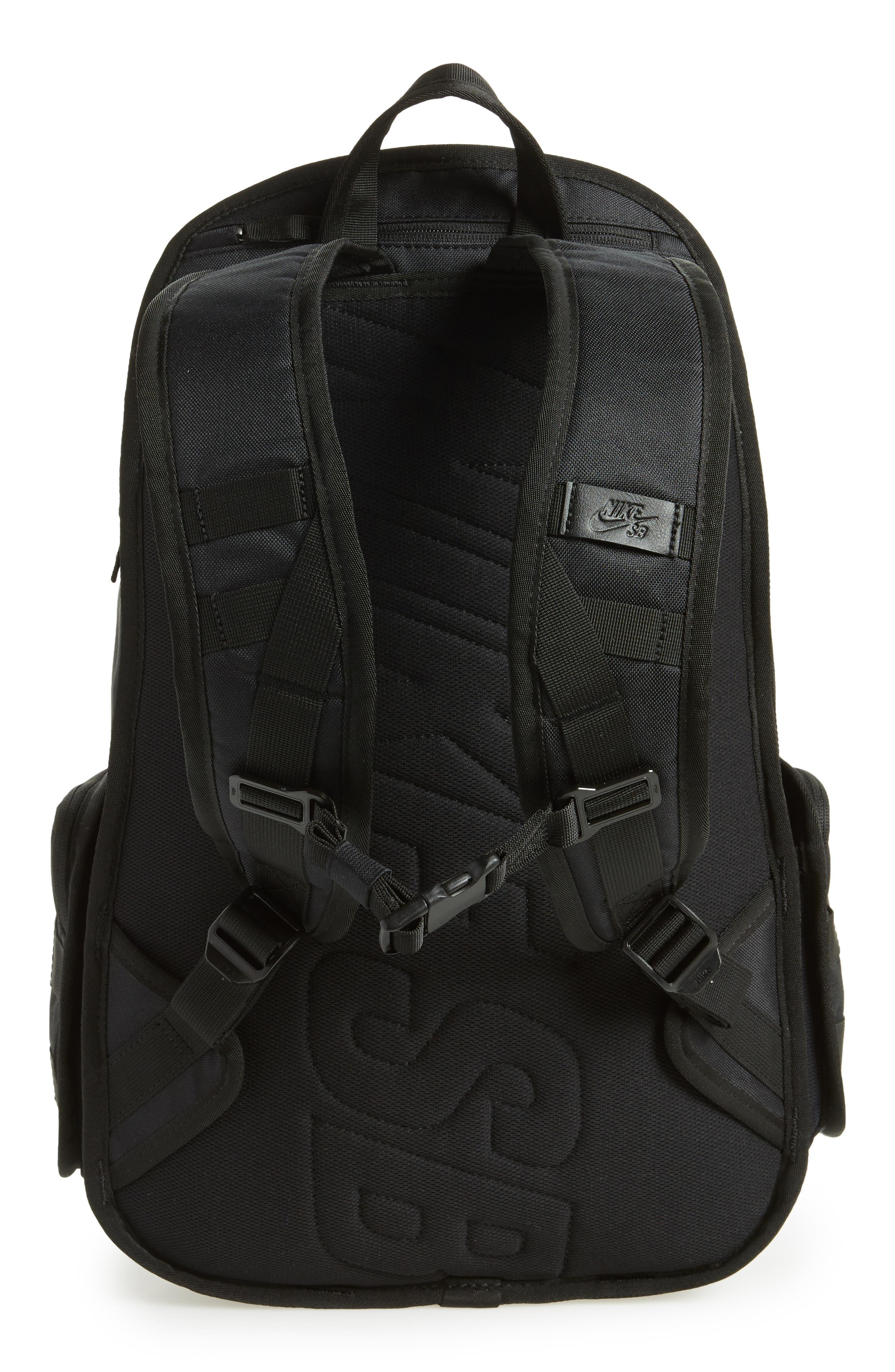 NIKE SB, RPM Backpack, Alternate thumbnail 4, color, BLACK/ BLACK/ BLACK