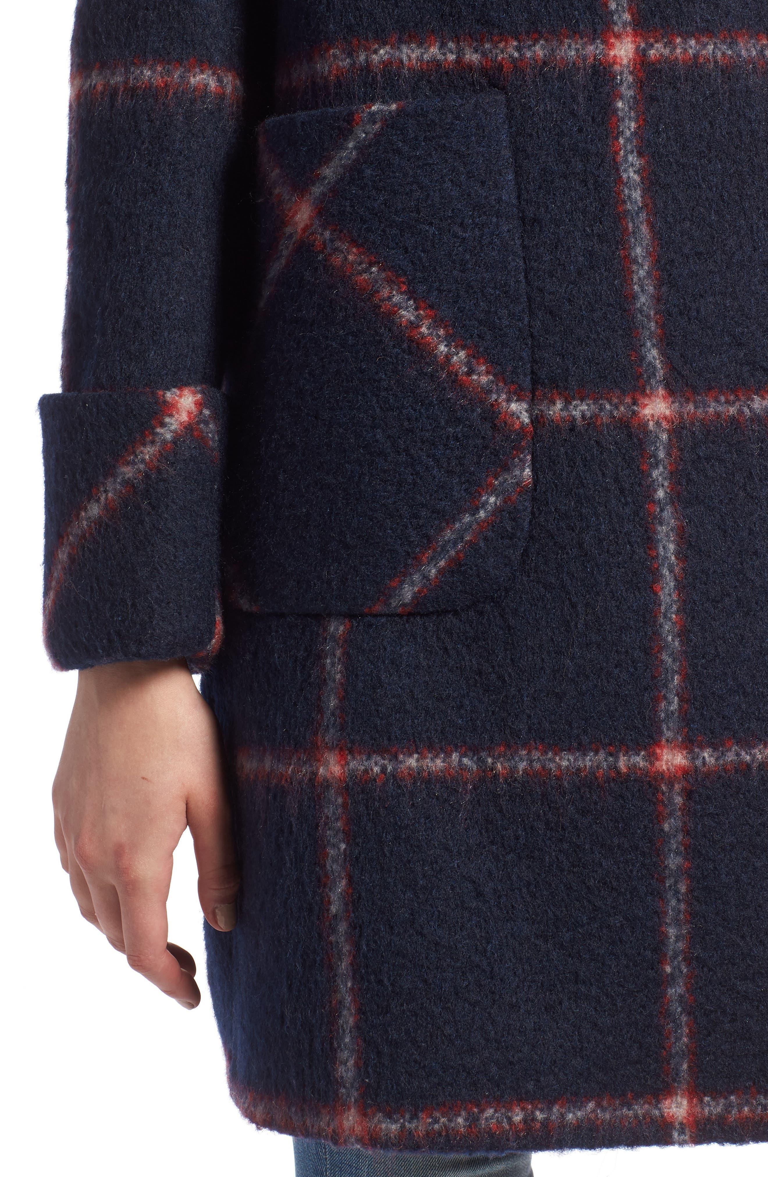 KENDALL + KYLIE, Oversize Collar Coat, Alternate thumbnail 4, color, 427