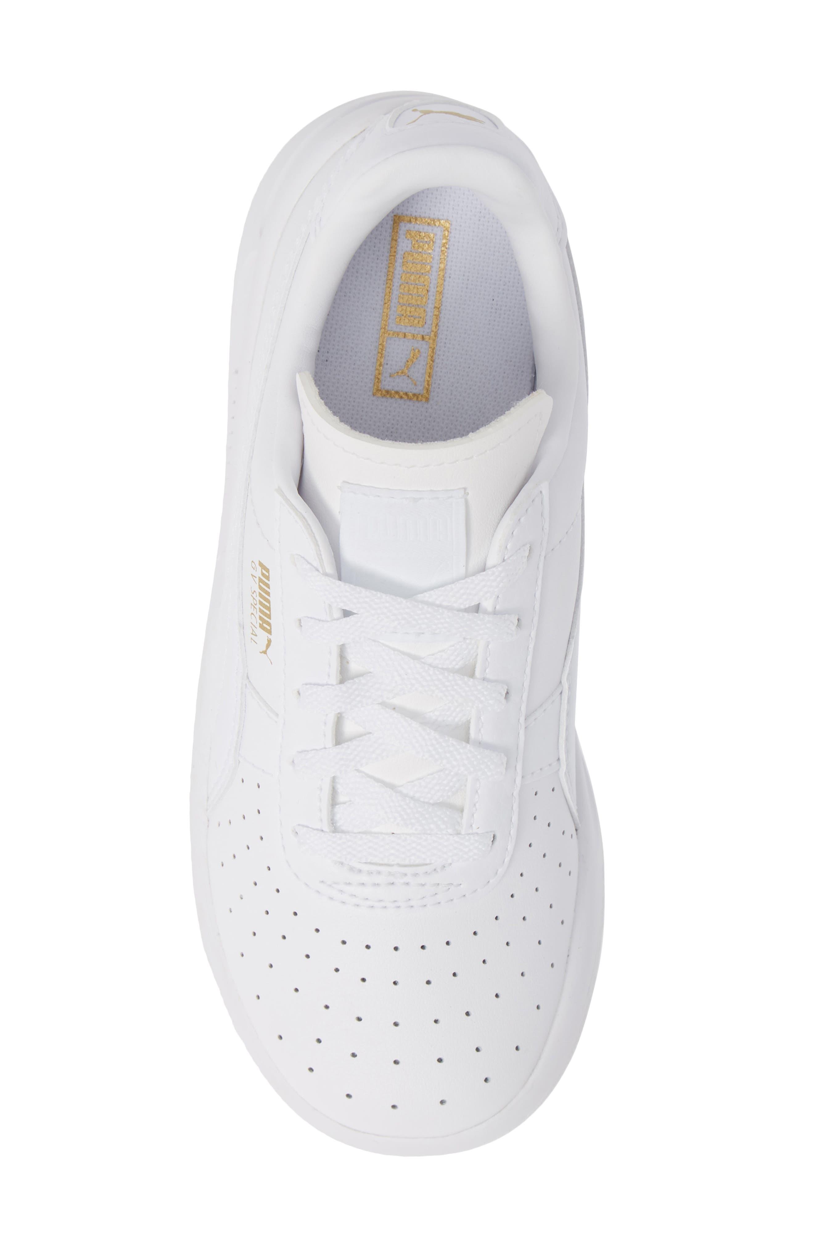 PUMA, 'GV Special' Sneaker, Alternate thumbnail 5, color, PUMA WHITE-PUMA TEAM GOLD
