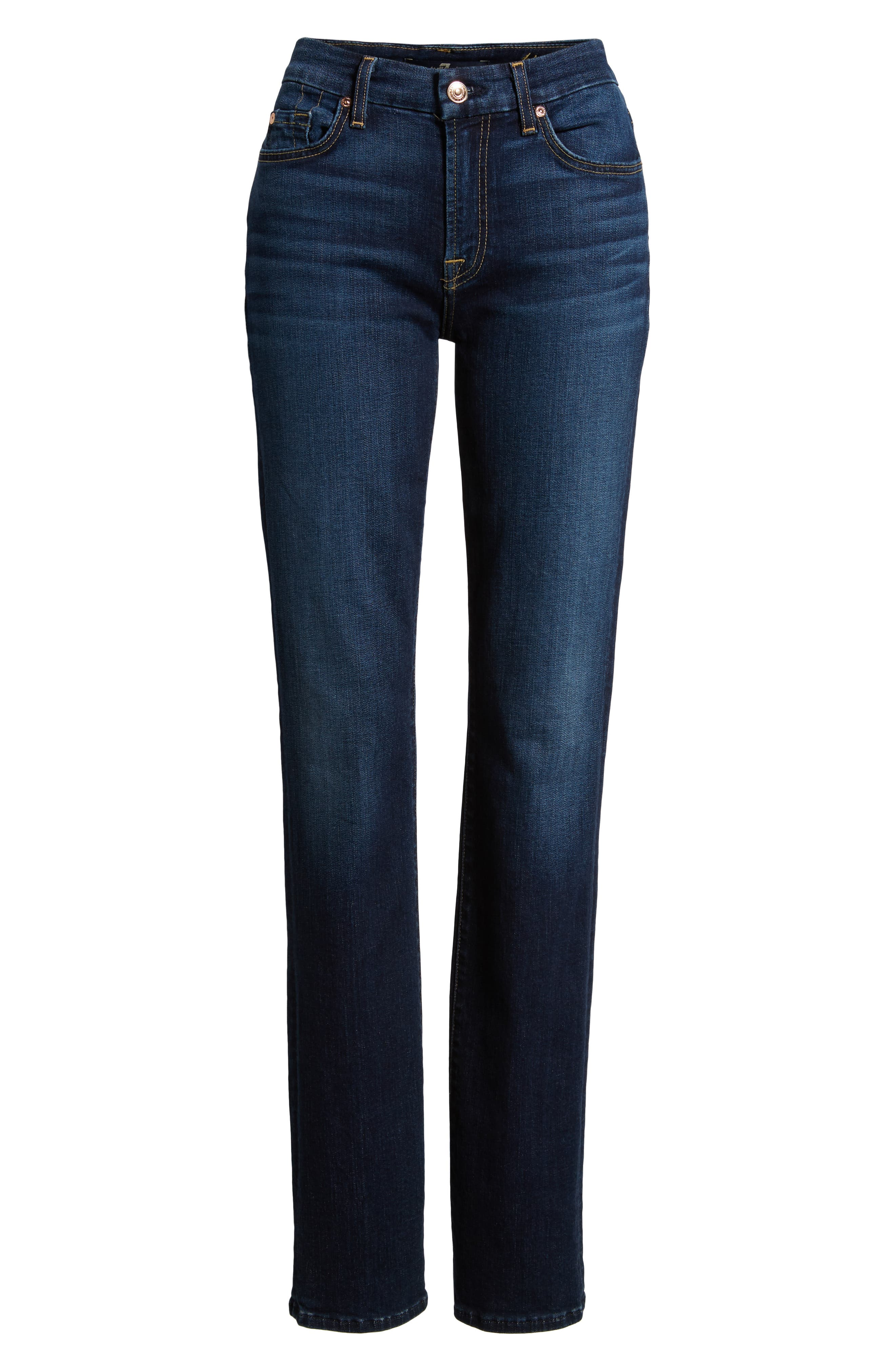 7 FOR ALL MANKIND<SUP>®</SUP>, b(air) Kimmie Straight Leg Jeans, Alternate thumbnail 7, color, AUTHENTIC FATE