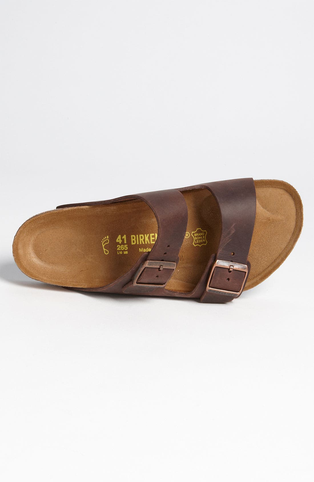 BIRKENSTOCK, Arizona Slide Sandal, Alternate thumbnail 6, color, HABANA OILED BROWN