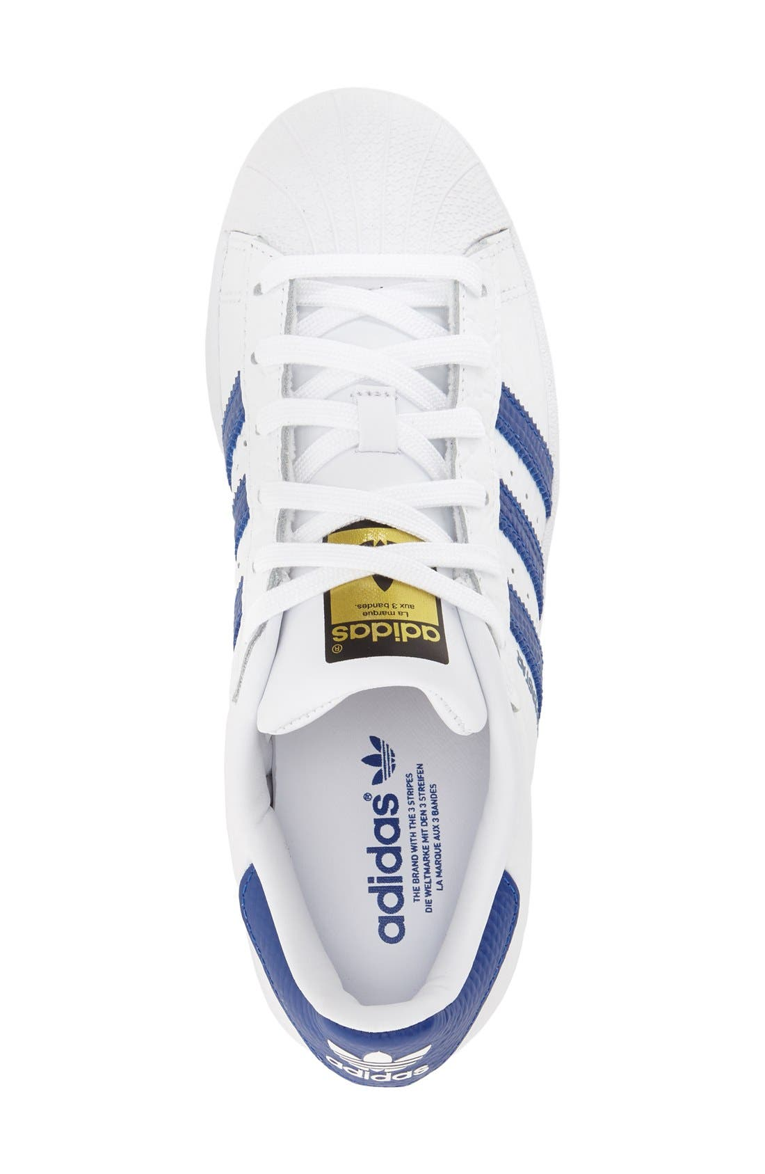 ADIDAS, 'Superstar' Sneaker, Alternate thumbnail 2, color, 106