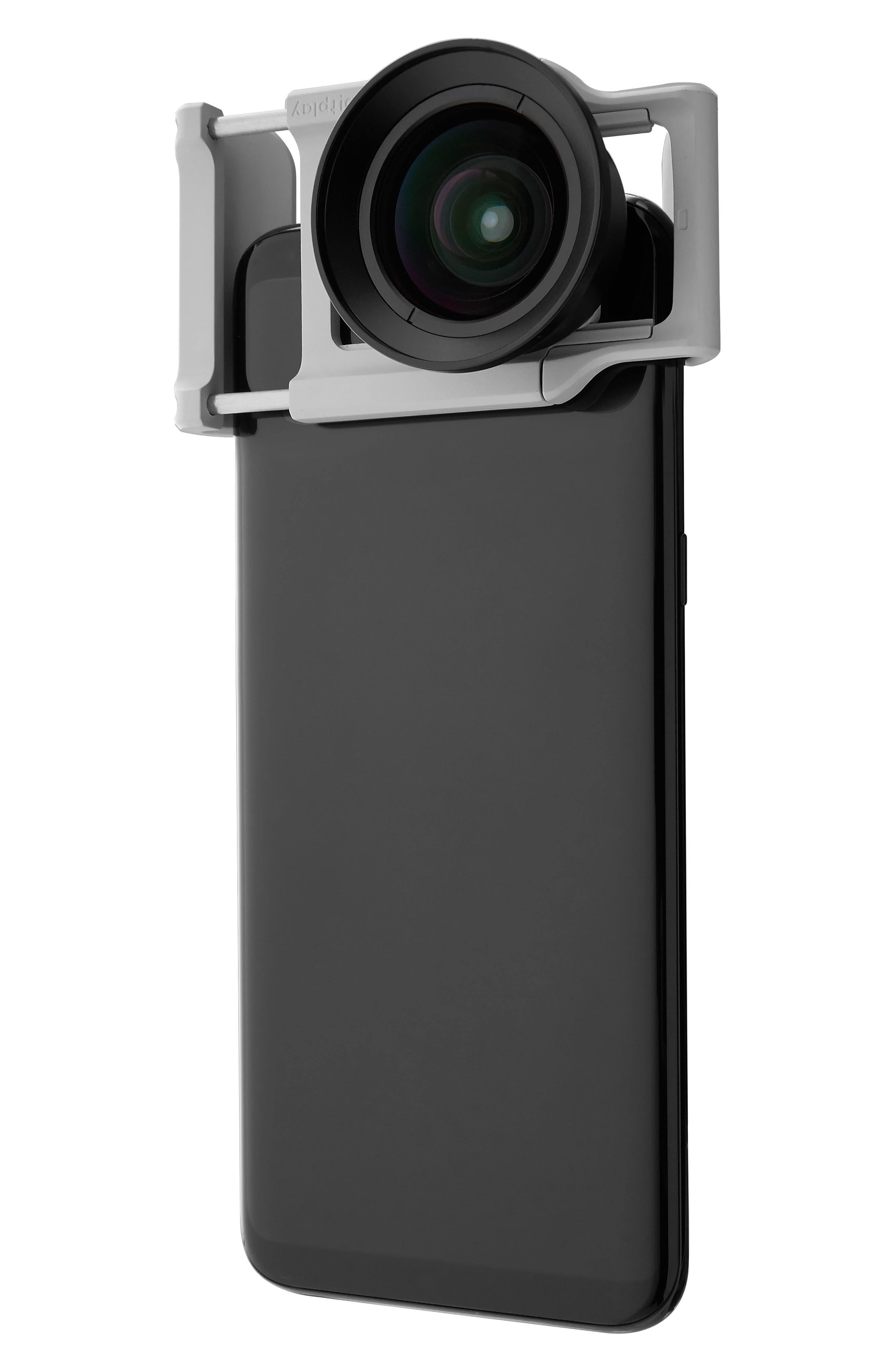 BITPLAY, AllClip Lens Holder + Premium HD Wide Angle Lens, Main thumbnail 1, color, SILVER