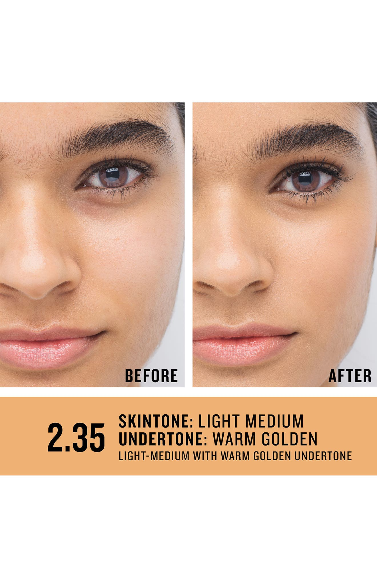 SMASHBOX, Studio Skin 15 Hour Wear Hydrating Foundation, Alternate thumbnail 2, color, 2.35 LIGHT-MEDIUM WARM GOLDEN