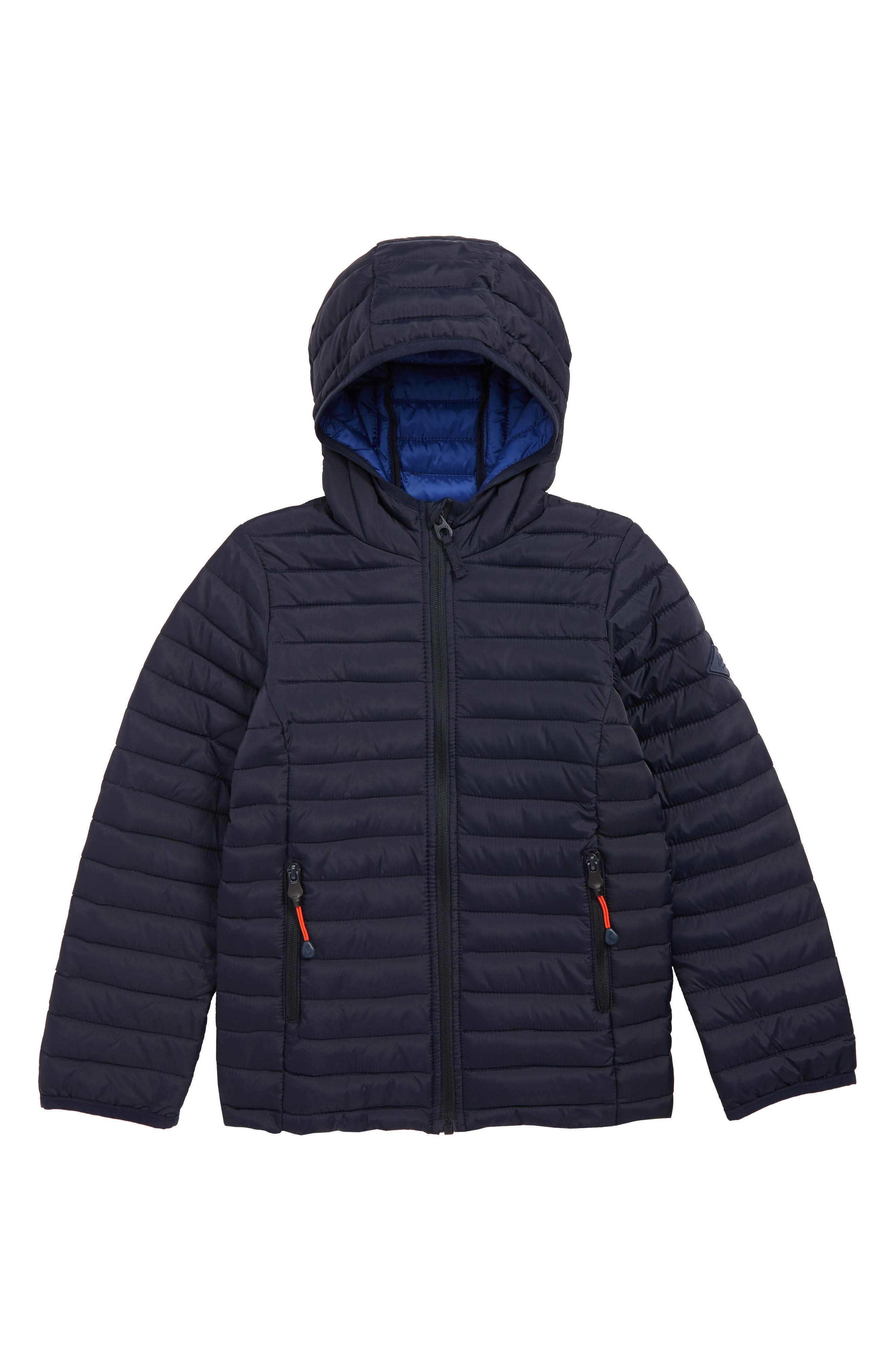 JOULES Cairn Packable Puffer Coat, Main, color, NAVY