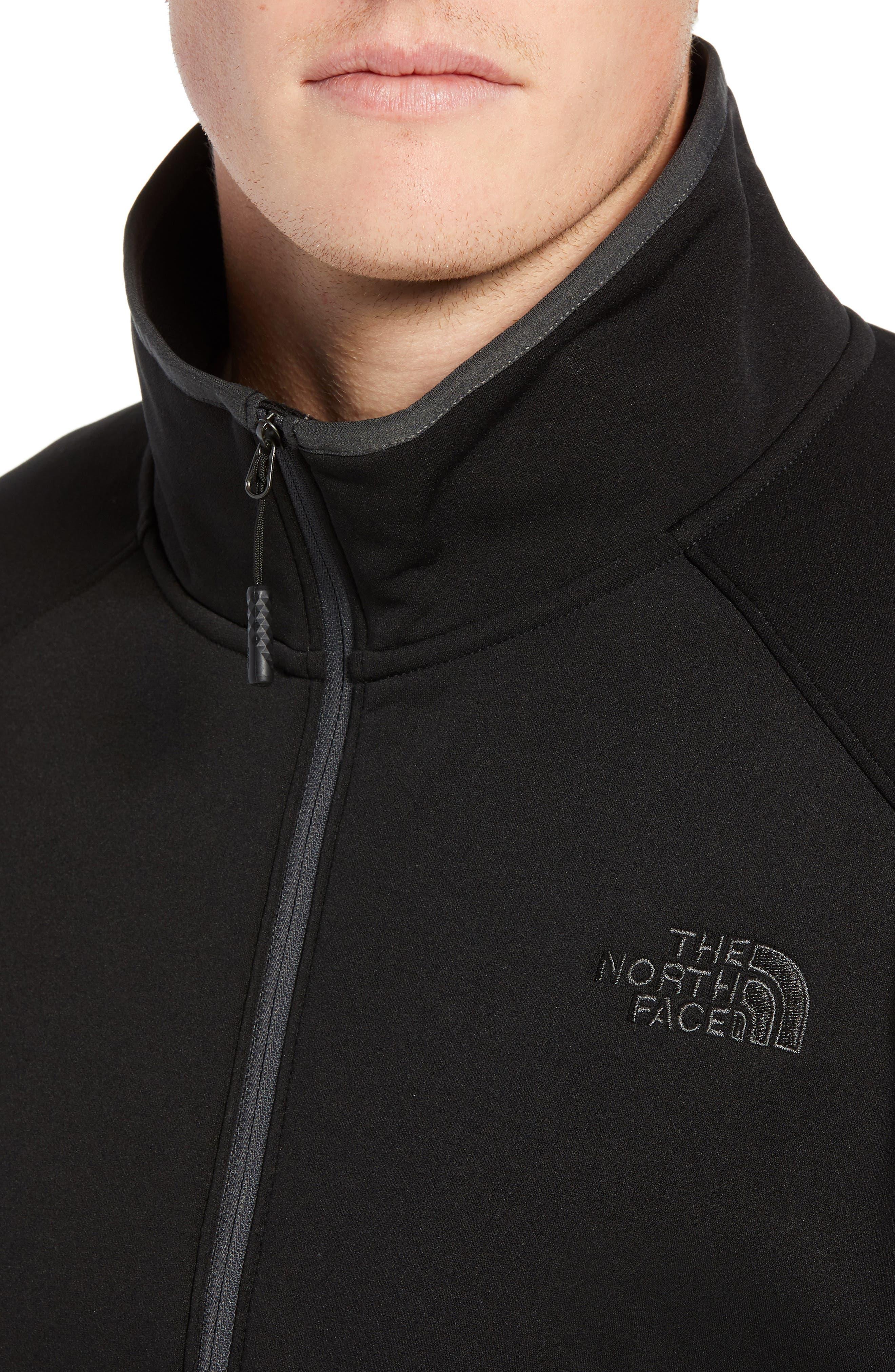 THE NORTH FACE, Tolmiepeak Hybrid Half-Zip Pullover, Alternate thumbnail 5, color, 001