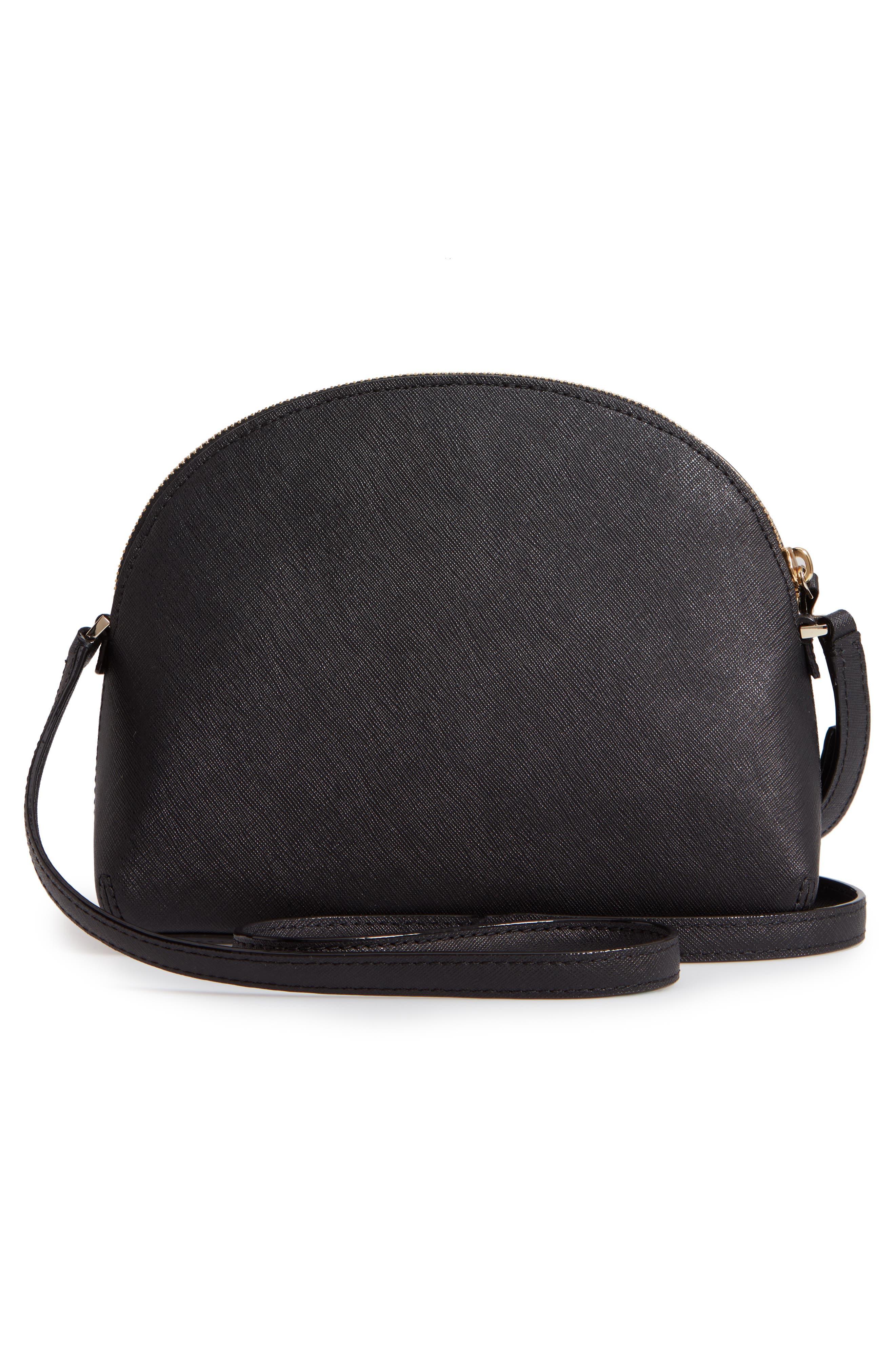 KATE SPADE NEW YORK, cameron street large hilli leather crossbody bag, Alternate thumbnail 3, color, 001