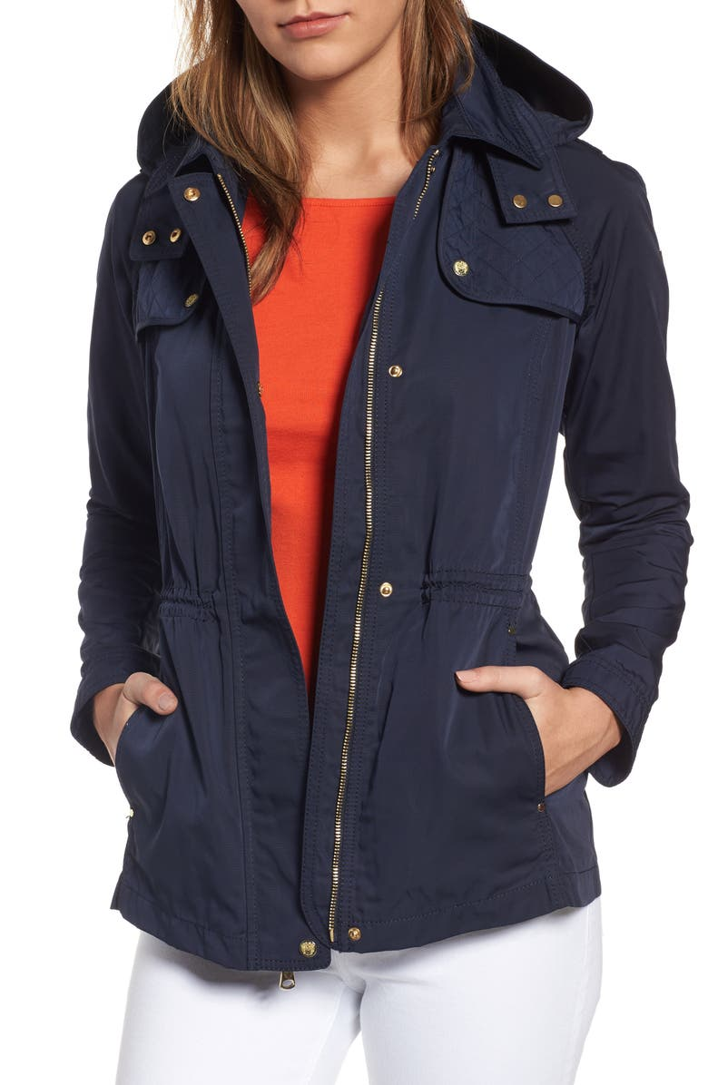 8d88ed14659f VINCE CAMUTO Hooded Drawstring Waist Jacket, Main, color, 410