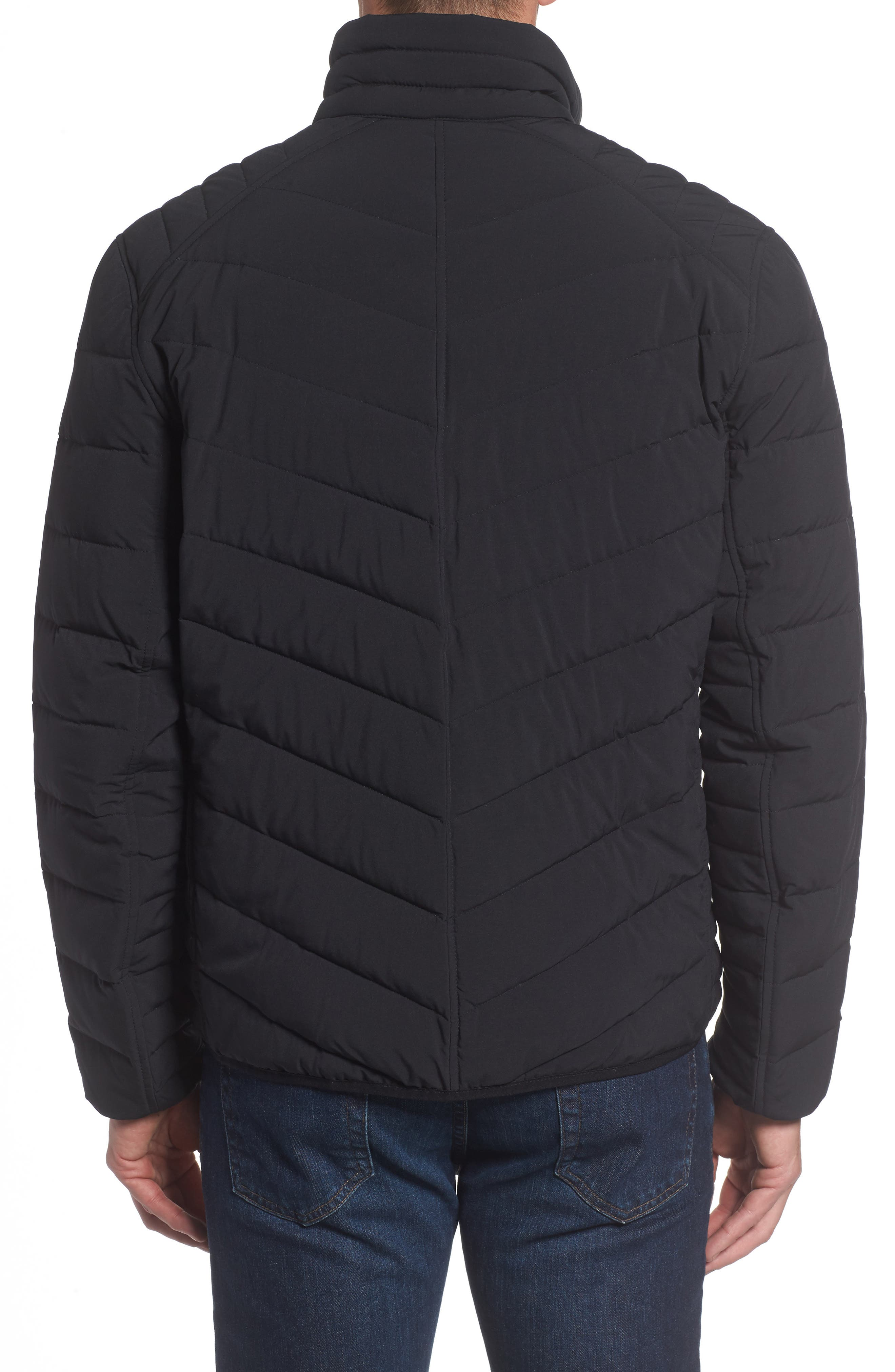 MARC NEW YORK, Bergen Quilted Down Jacket, Alternate thumbnail 2, color, BLACK