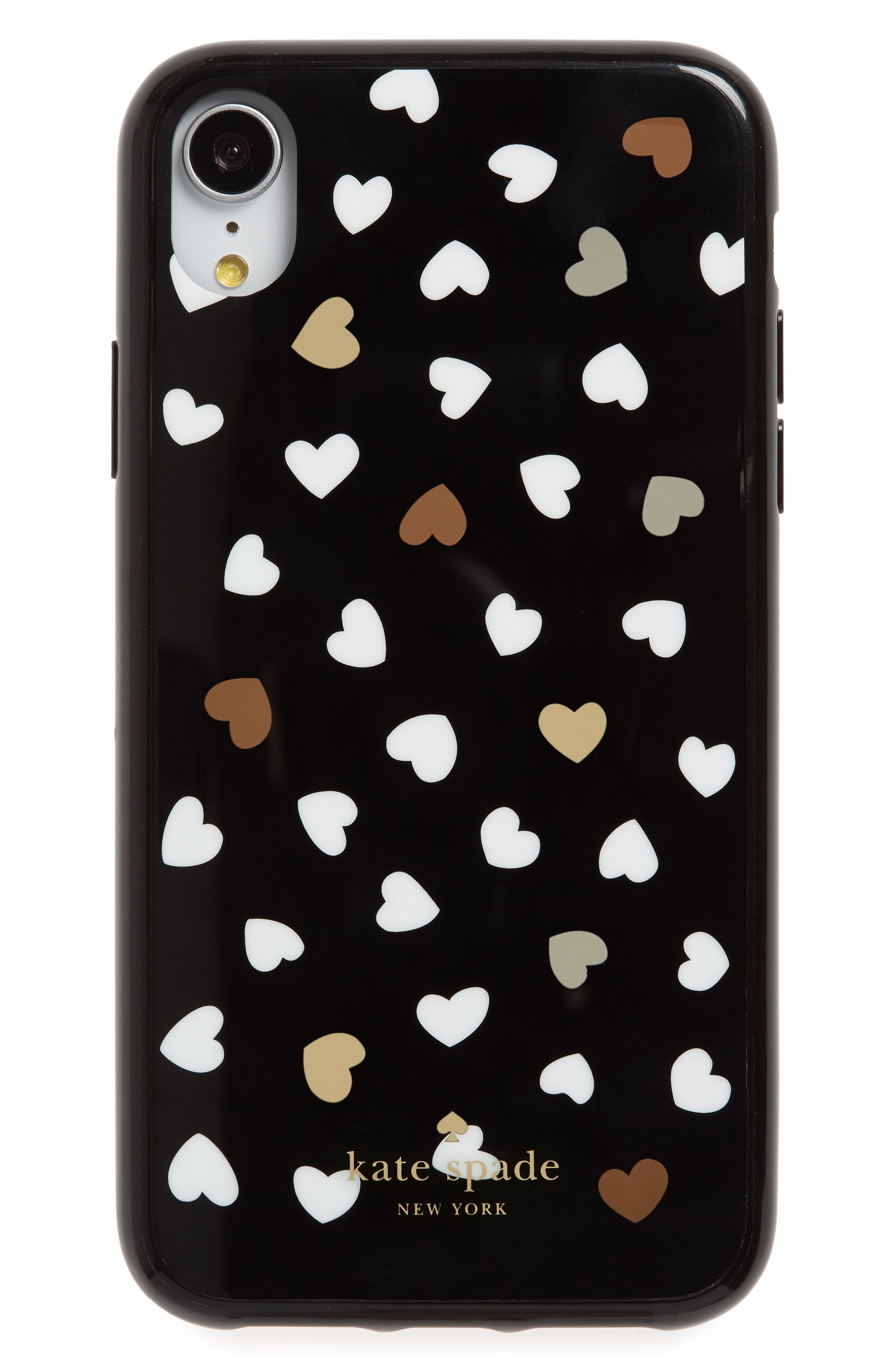 KATE SPADE NEW YORK, heartbeat iPhone X/Xs/XR & Xs Max case, Main thumbnail 1, color, 001