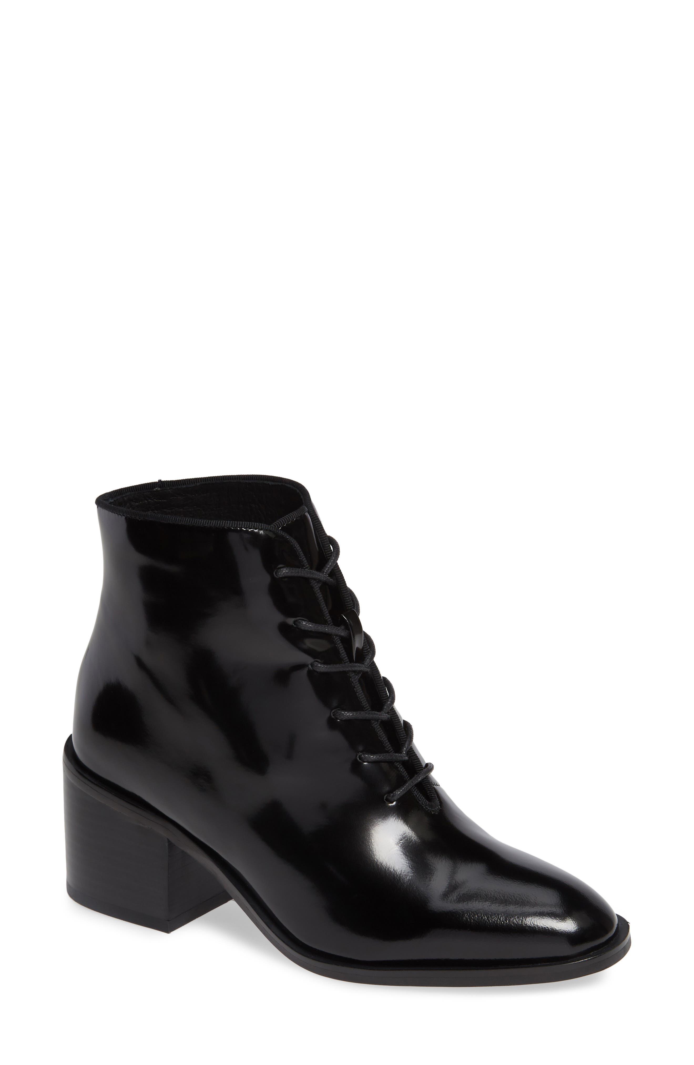 JEFFREY CAMPBELL Talcott Block Heel Bootie, Main, color, BLACK BOX
