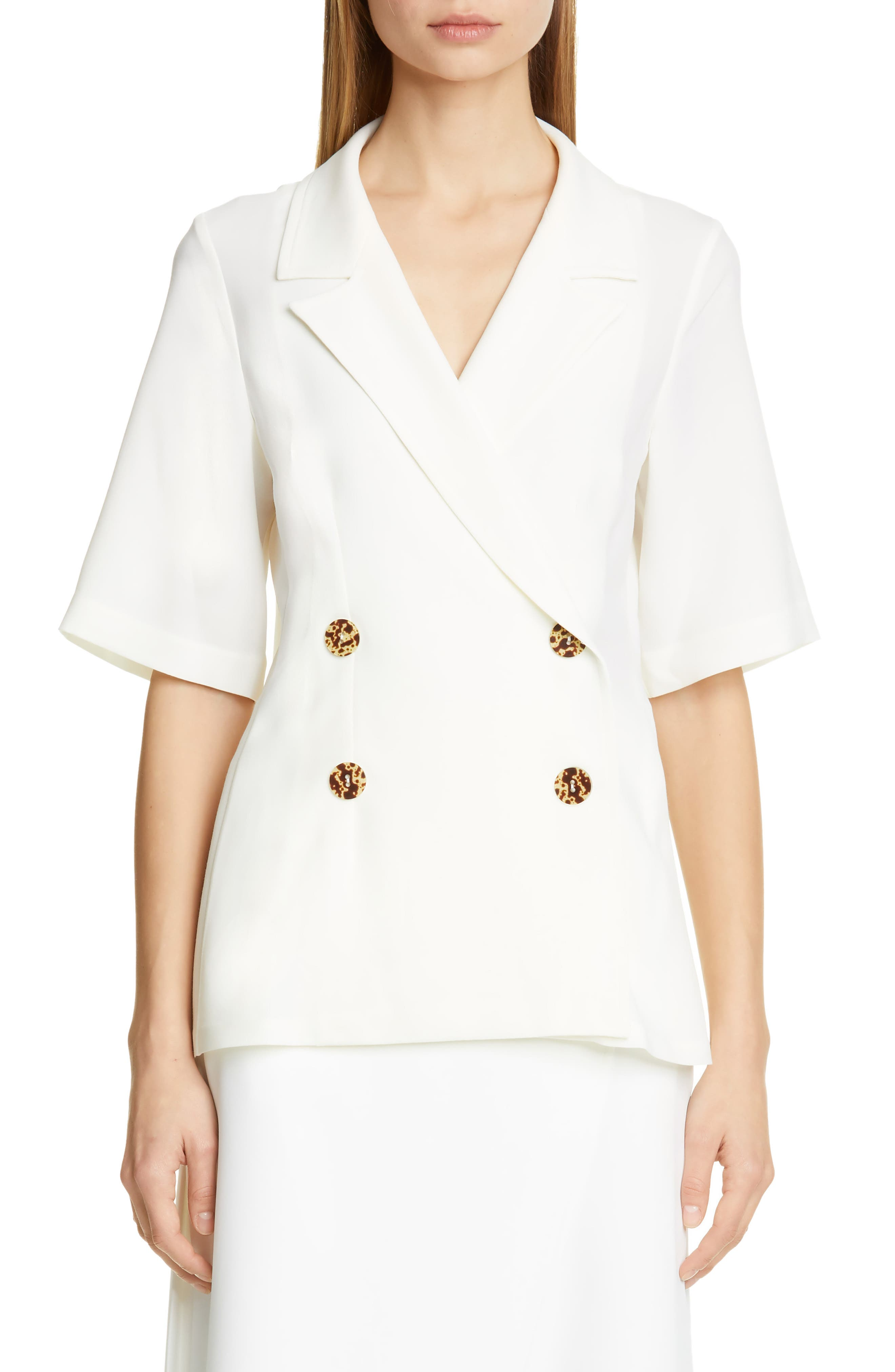 BEAUFILLE Siner Blouse, Main, color, WHITE