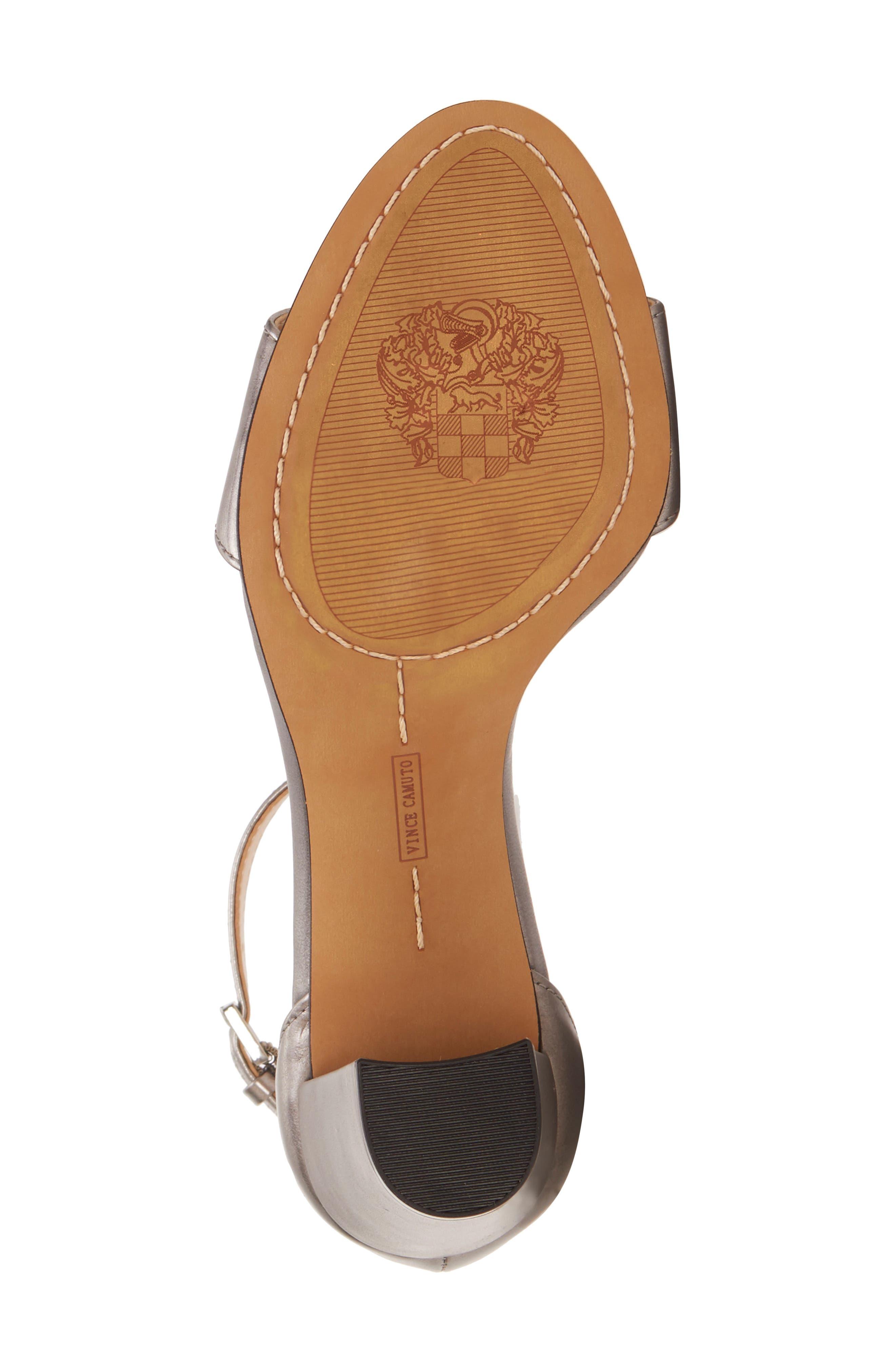 VINCE CAMUTO, Corlina Ankle Strap Sandal, Alternate thumbnail 6, color, METAL GREY