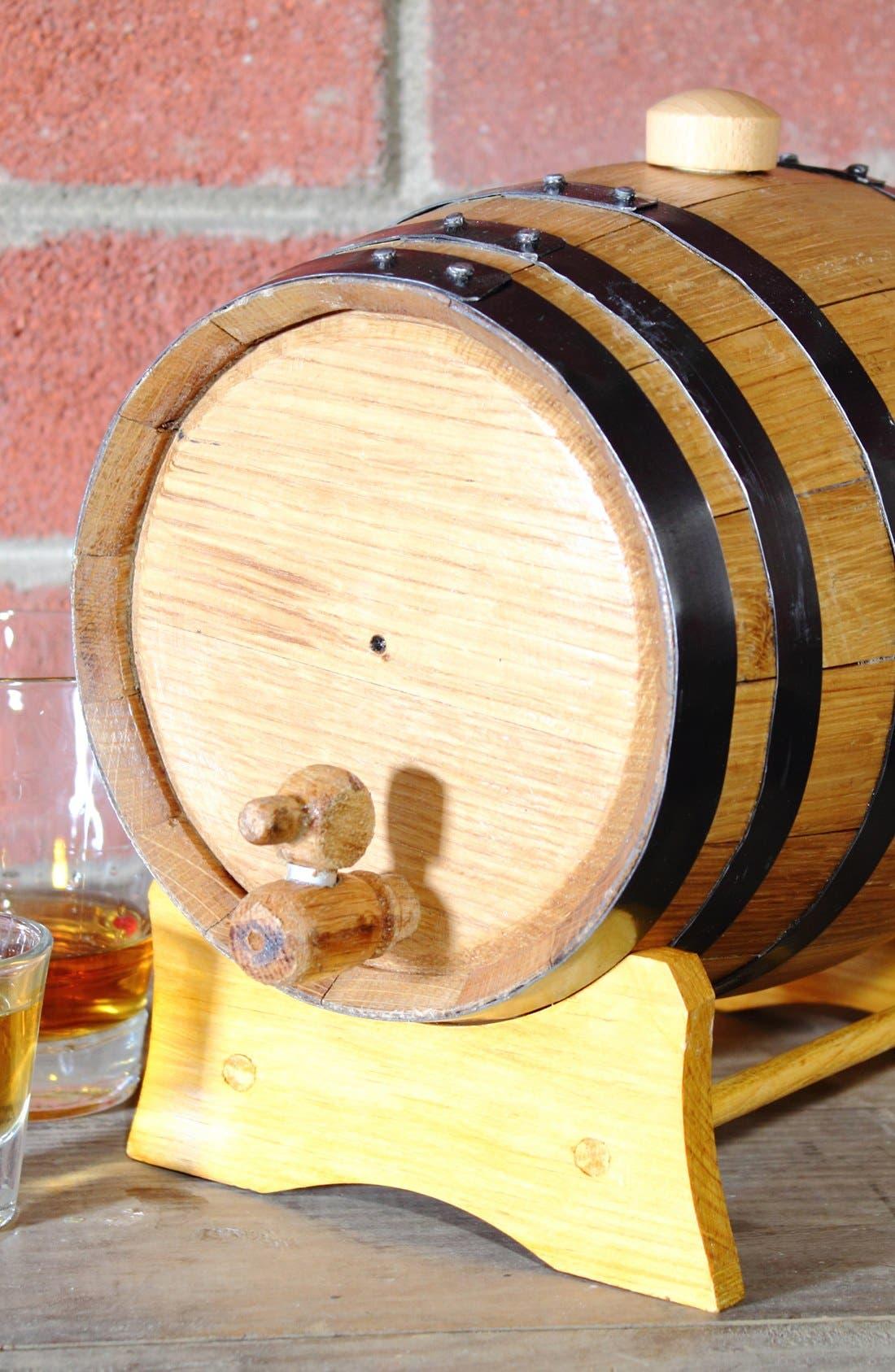 CATHY'S CONCEPTS, Monogram Oak Whiskey Barrel, Small, Alternate thumbnail 2, color, 208