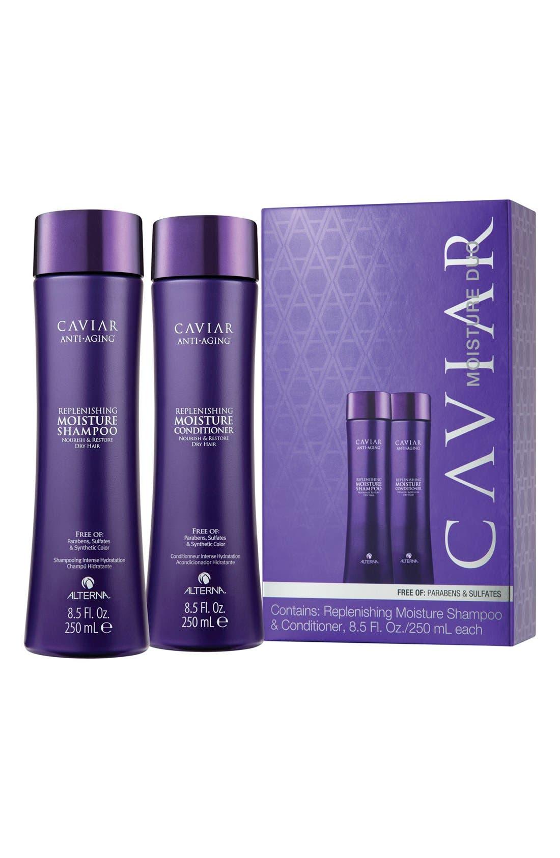 ALTERNA<SUP>®</SUP>, 'Caviar Moisture' Duo, Main thumbnail 1, color, 000
