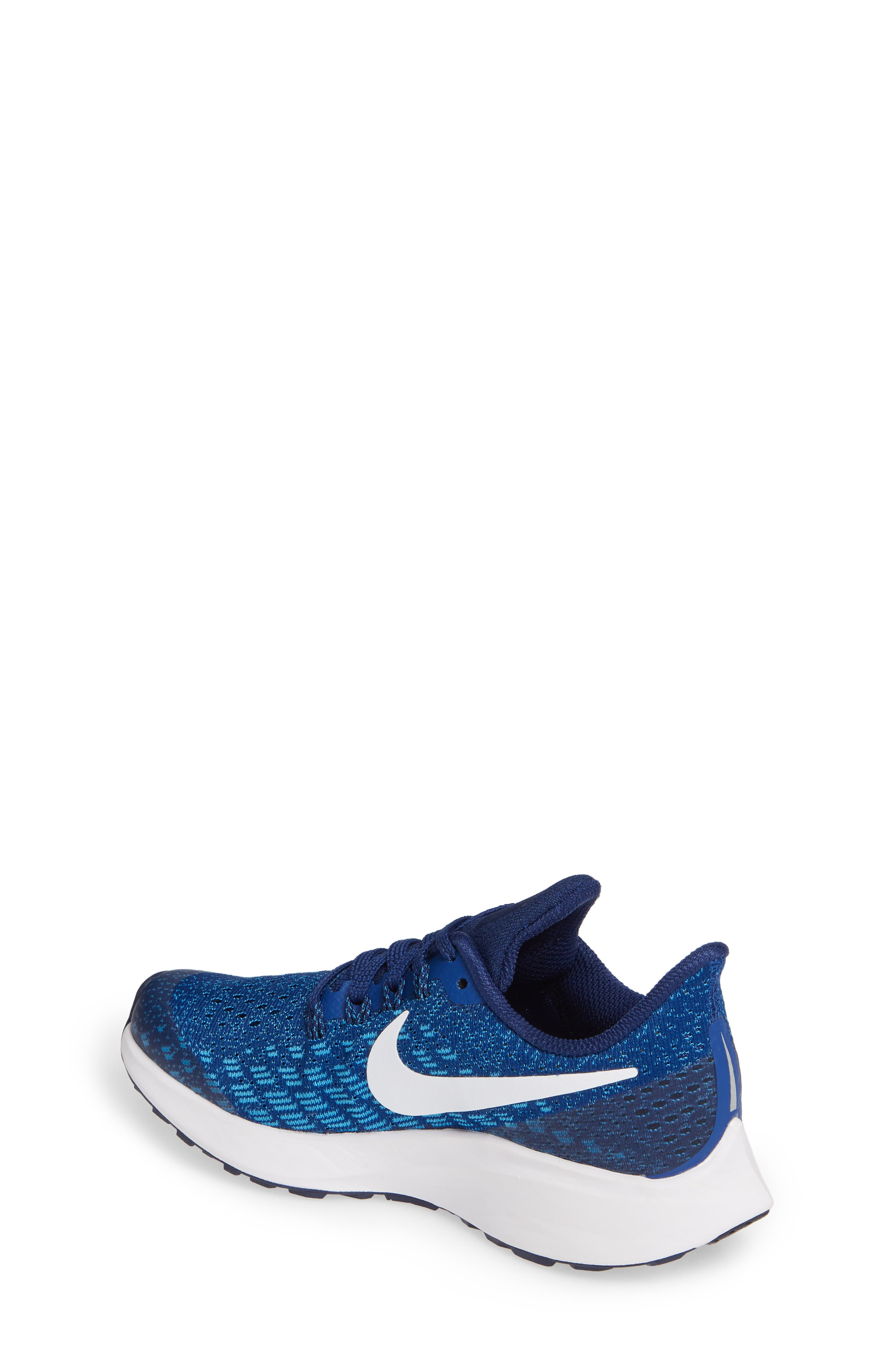 NIKE, Air Zoom Pegasus 35 Sneaker, Alternate thumbnail 2, color, INDIGO FORCE/ WHITE-BLUE-BLUE
