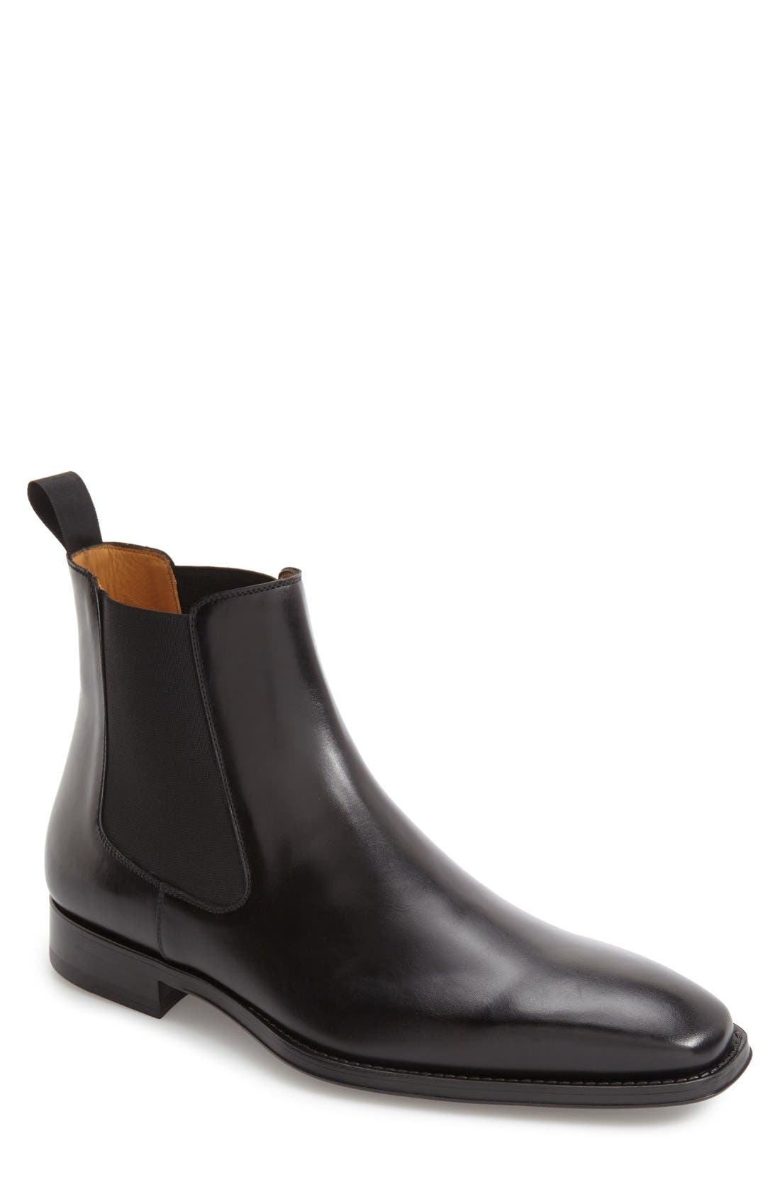 MAGNANNI, 'Sean' Chelsea Boot, Main thumbnail 1, color, BLACK