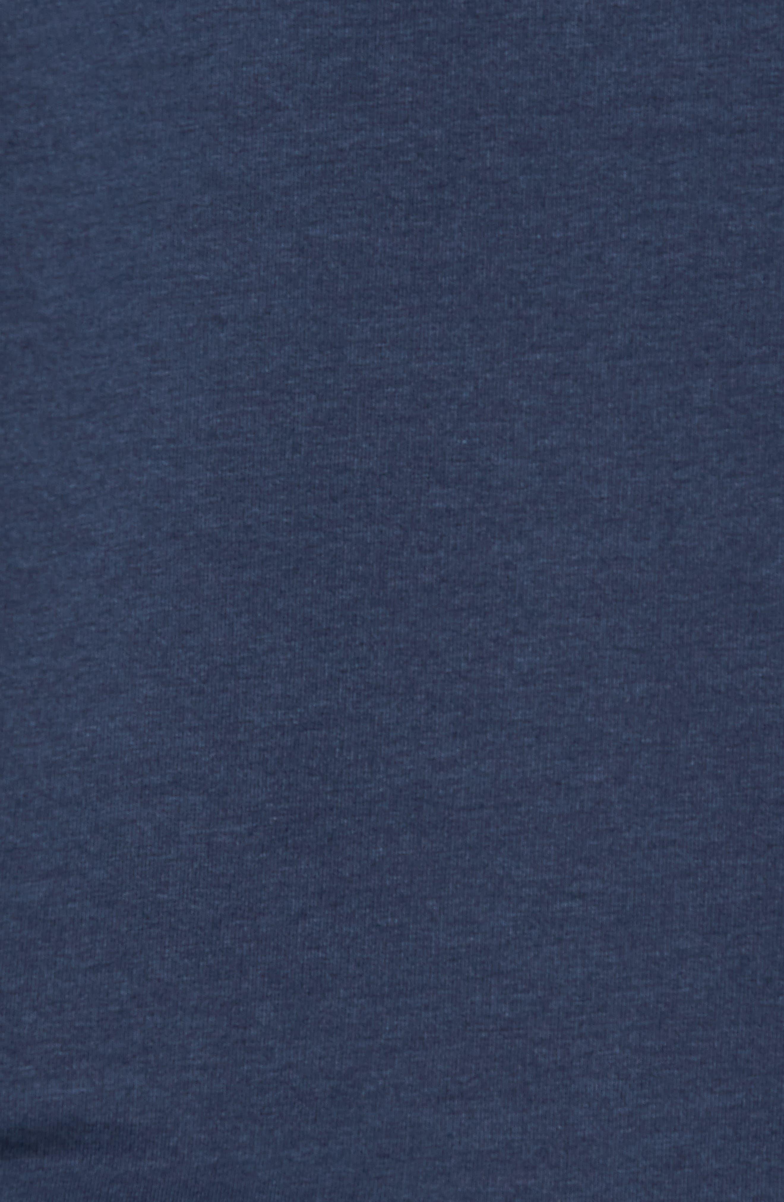 TASC PERFORMANCE, Legacy Crewneck Semi Fitted Sweatshirt, Alternate thumbnail 5, color, CLASSIC NAVY