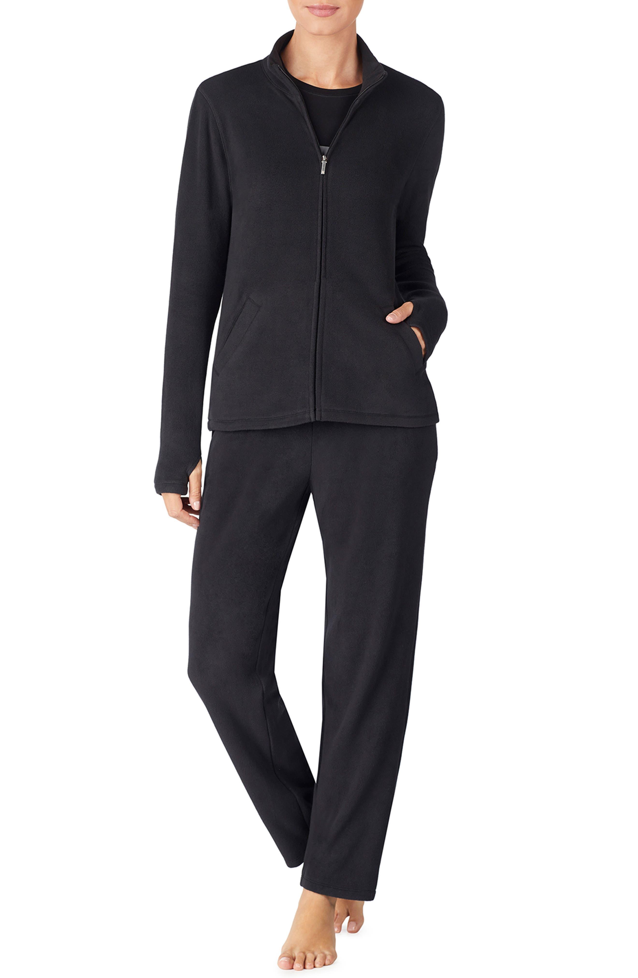 LAUREN RALPH LAUREN Zip Jacket, Main, color, BLACK