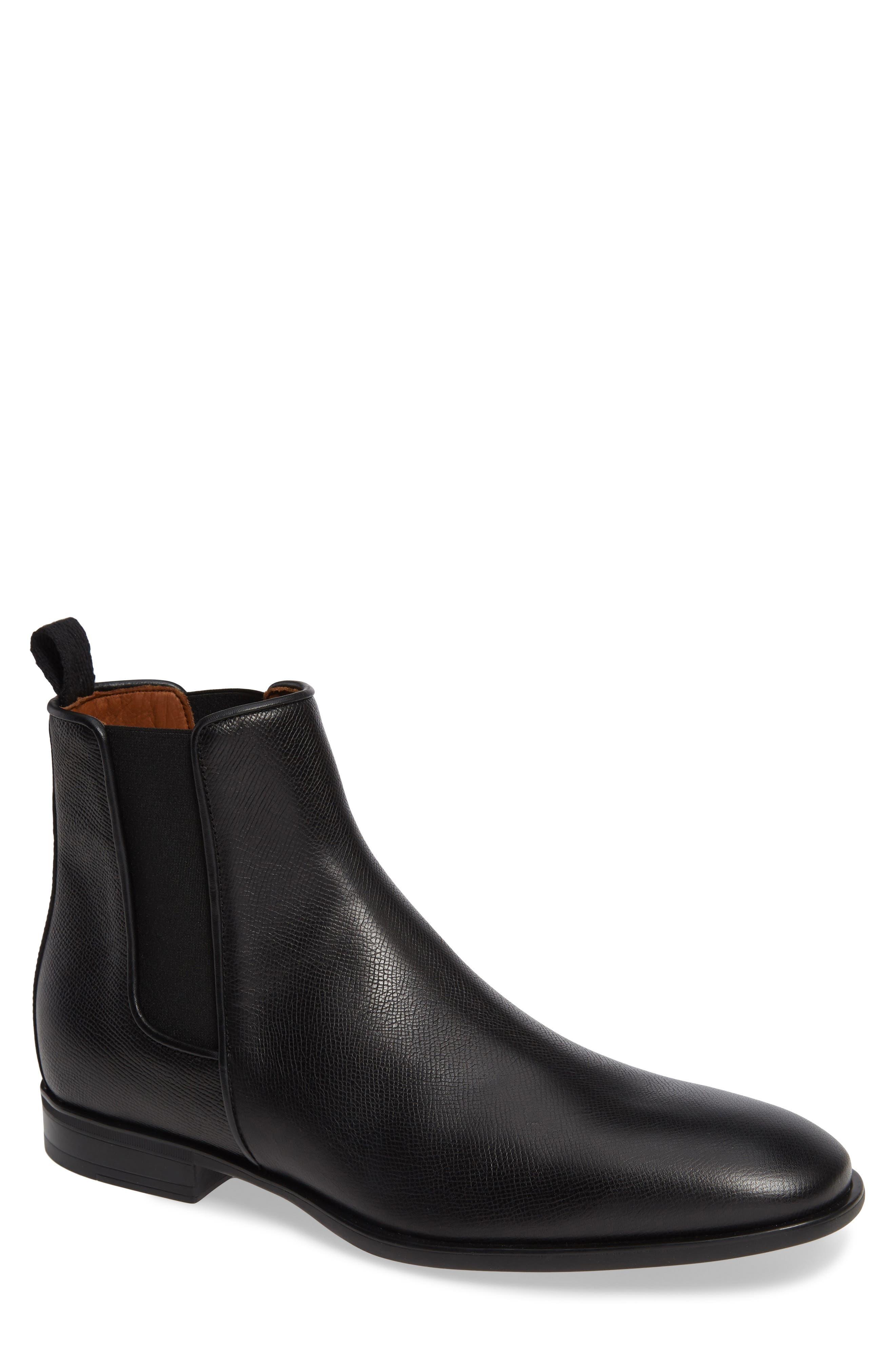 AQUATALIA 'Adrian' Water Resistant Chelsea Boot, Main, color, BLACK/ BLACK