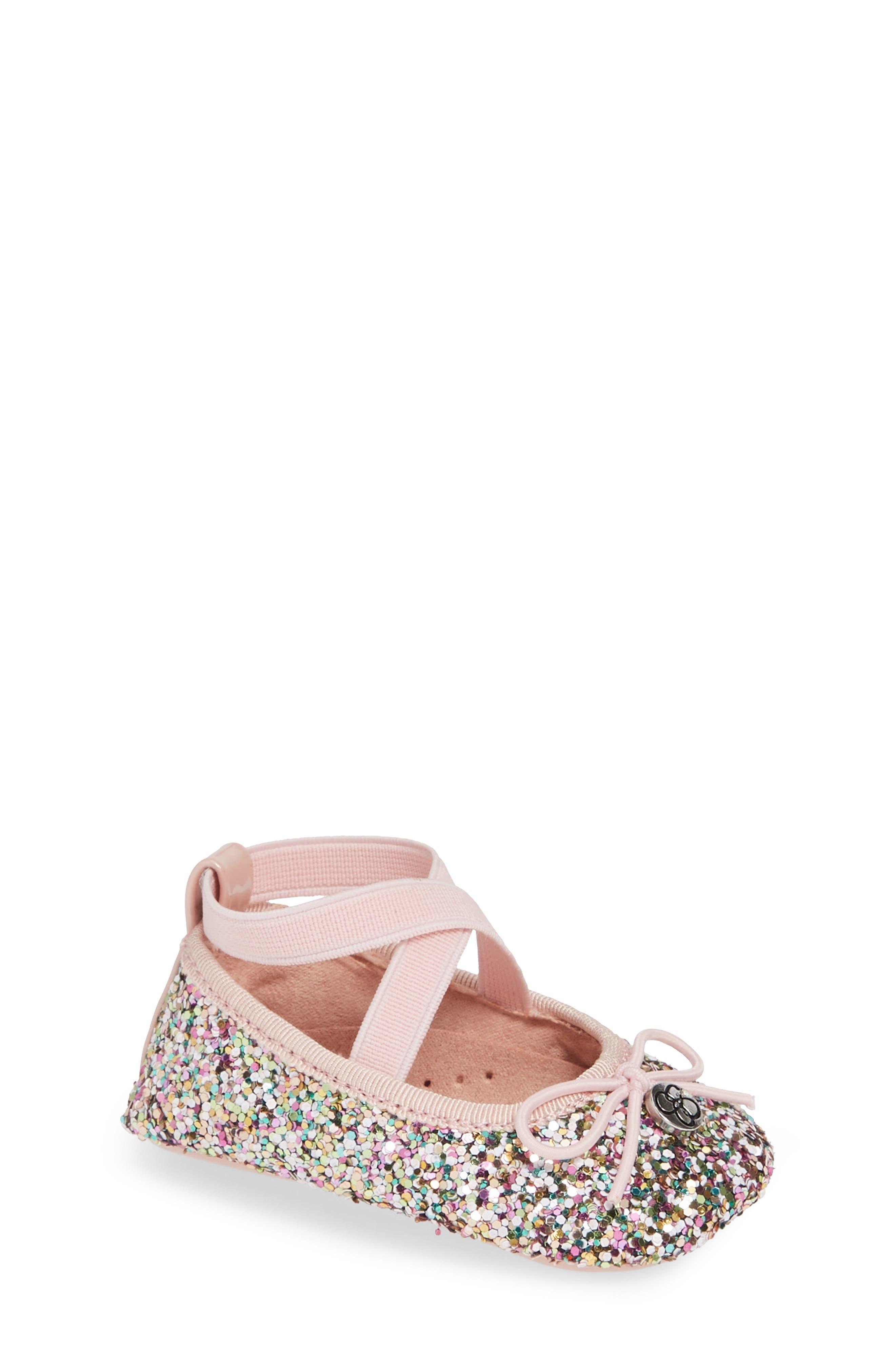 JESSICA SIMPSON Glitter Mary Jane Crib Shoe, Main, color, 650