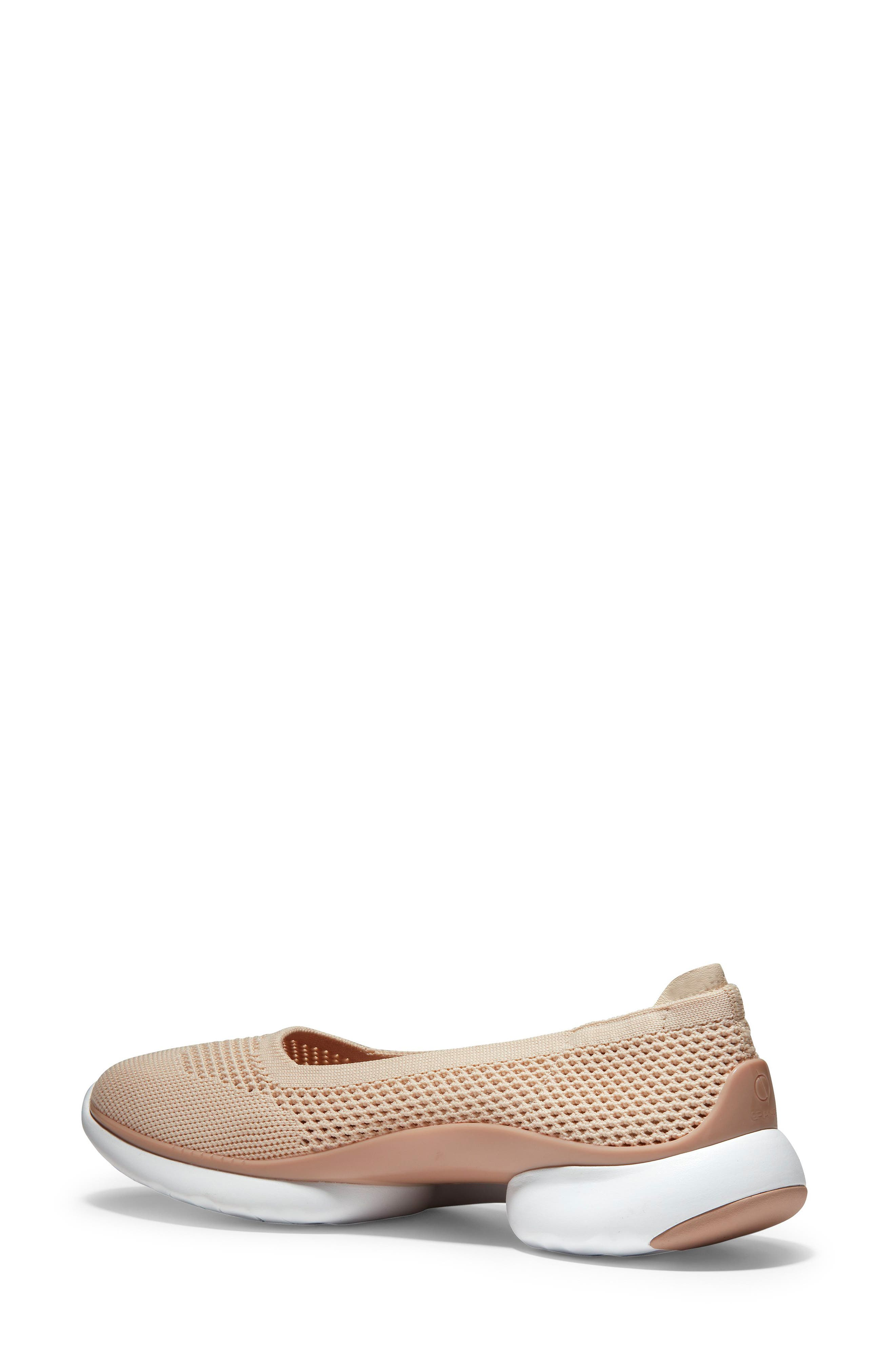 COLE HAAN, ZeroGrand Knit Sneaker, Alternate thumbnail 2, color, SAND/ ROSE KNIT/ LEATHER