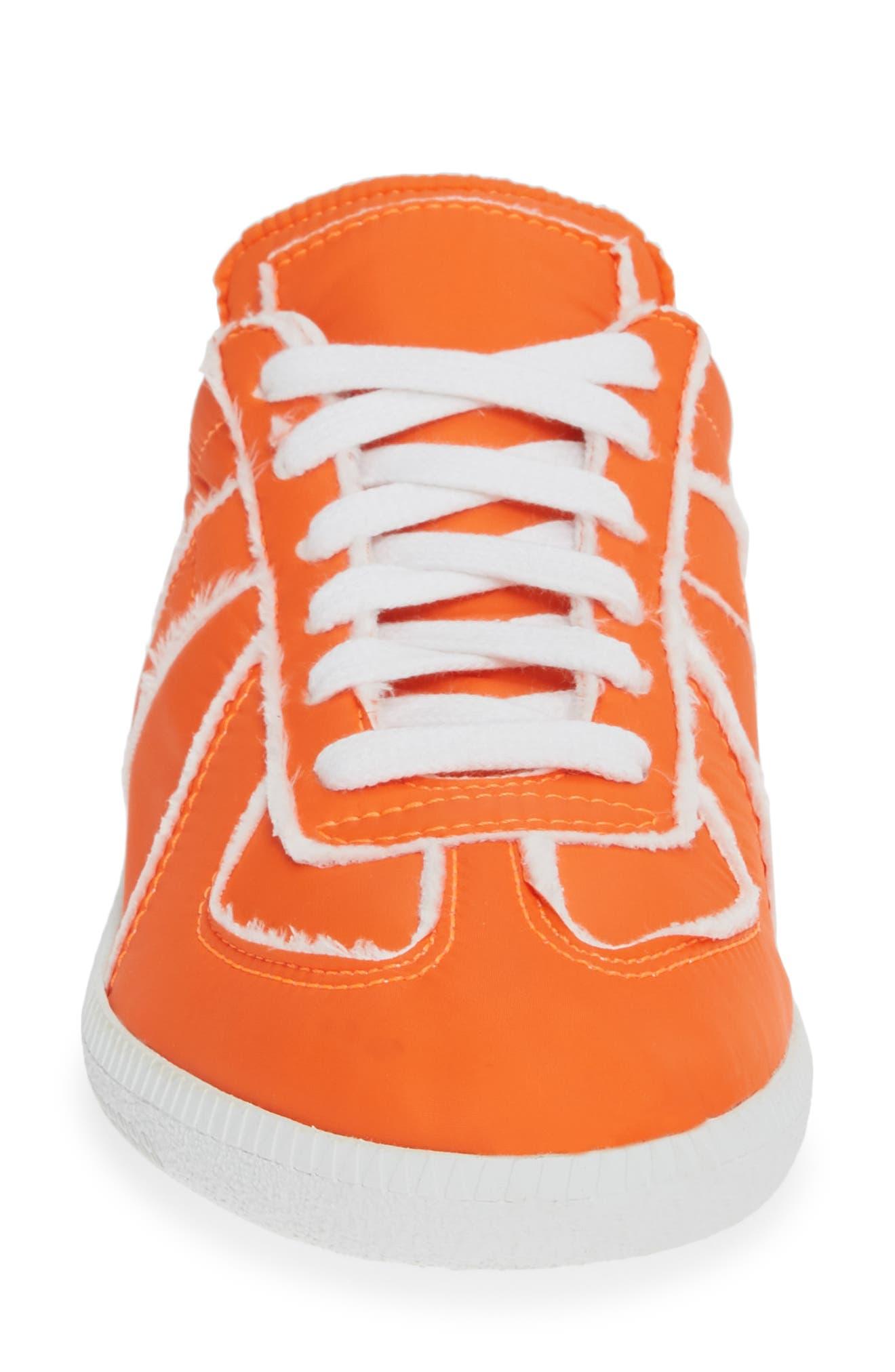 MAISON MARGIELA, Replica Lace-Up Sneaker, Alternate thumbnail 4, color, VERMILLION ORANGE