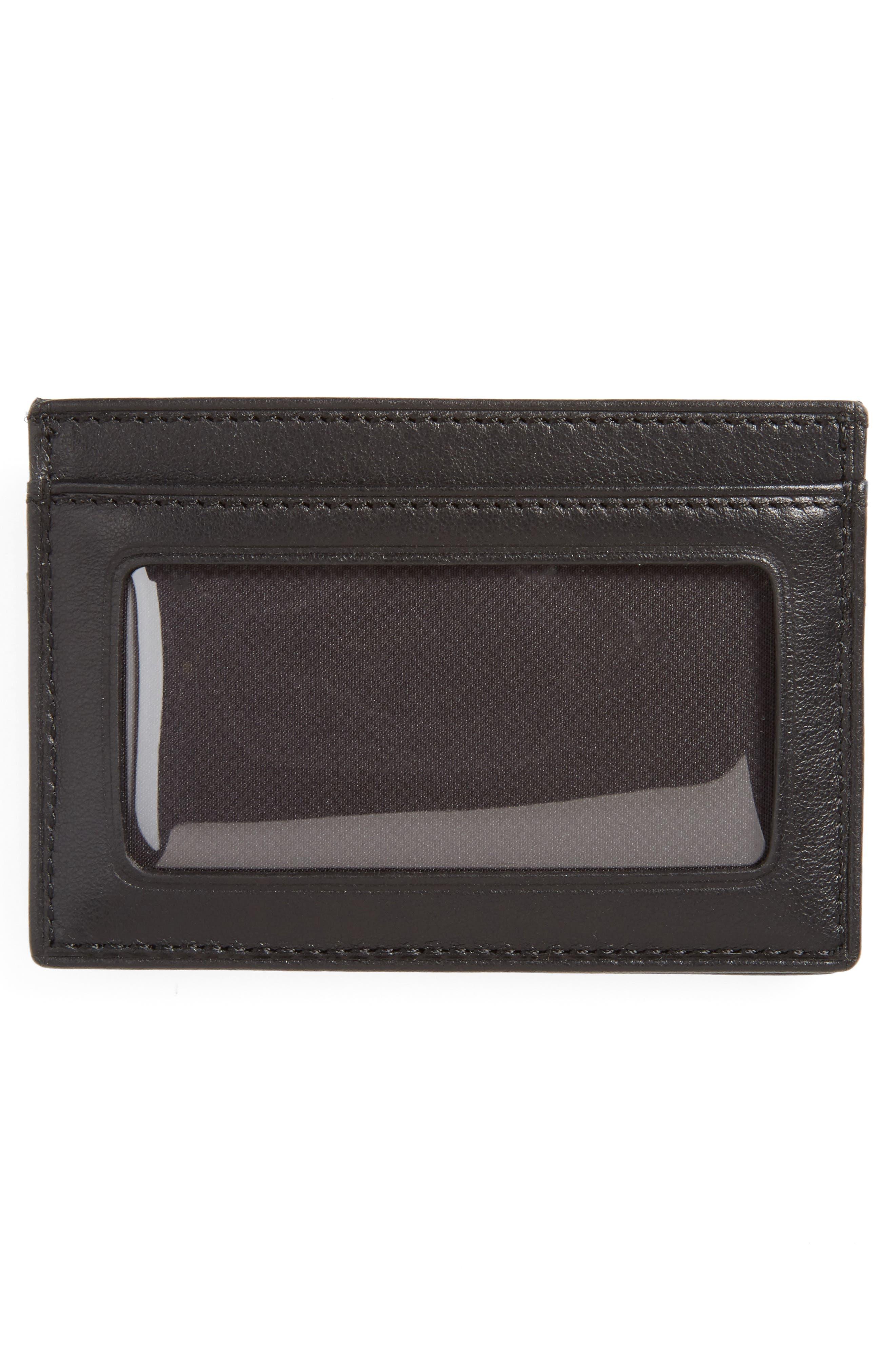 TUMI, Delta - ID Lock<sup>™</sup> Shielded Slim Card Case & ID Wallet, Alternate thumbnail 2, color, BLACK