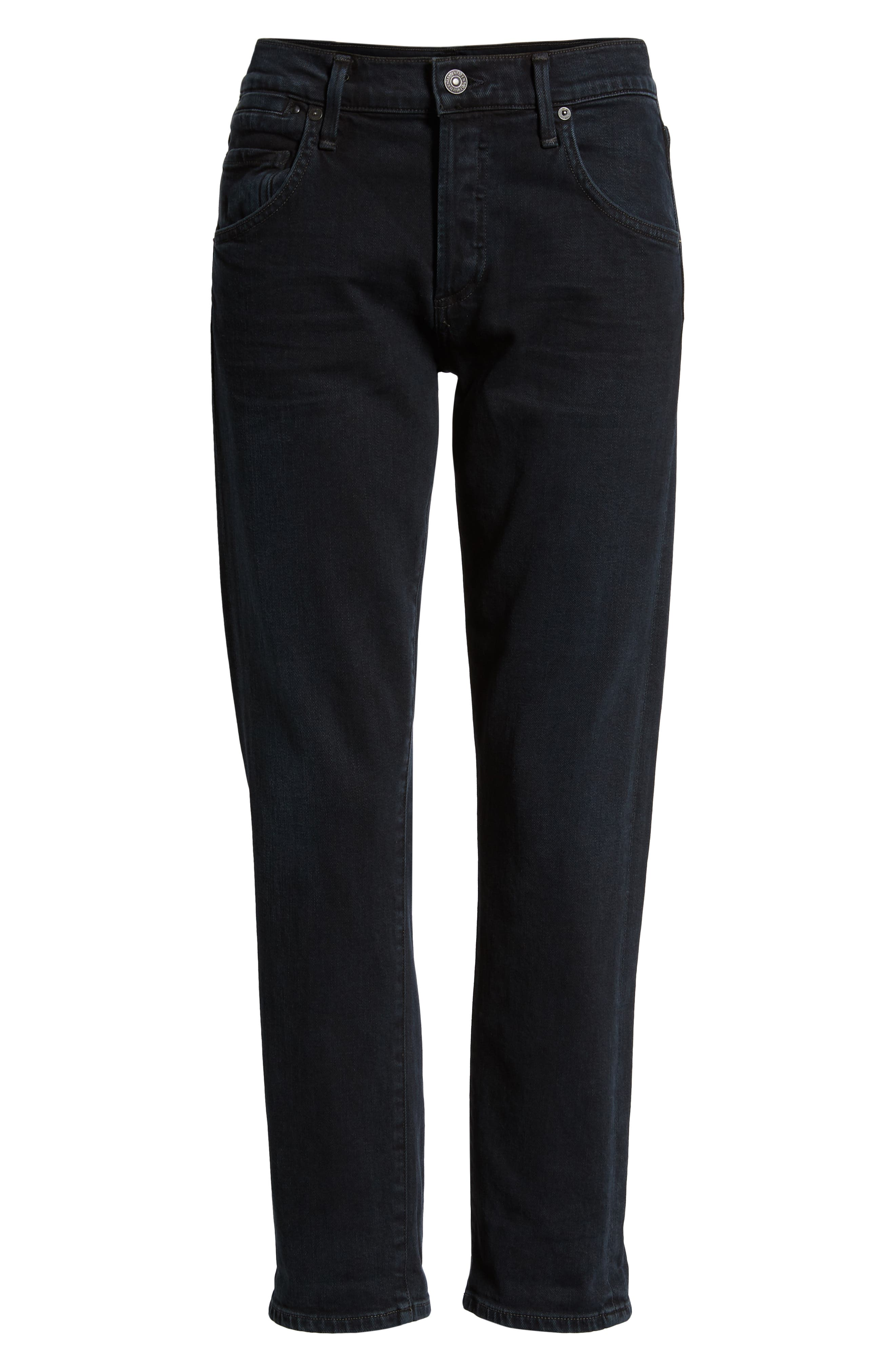 CITIZENS OF HUMANITY, Emerson Slim Boyfriend Jeans, Alternate thumbnail 7, color, NIGHT SHADE