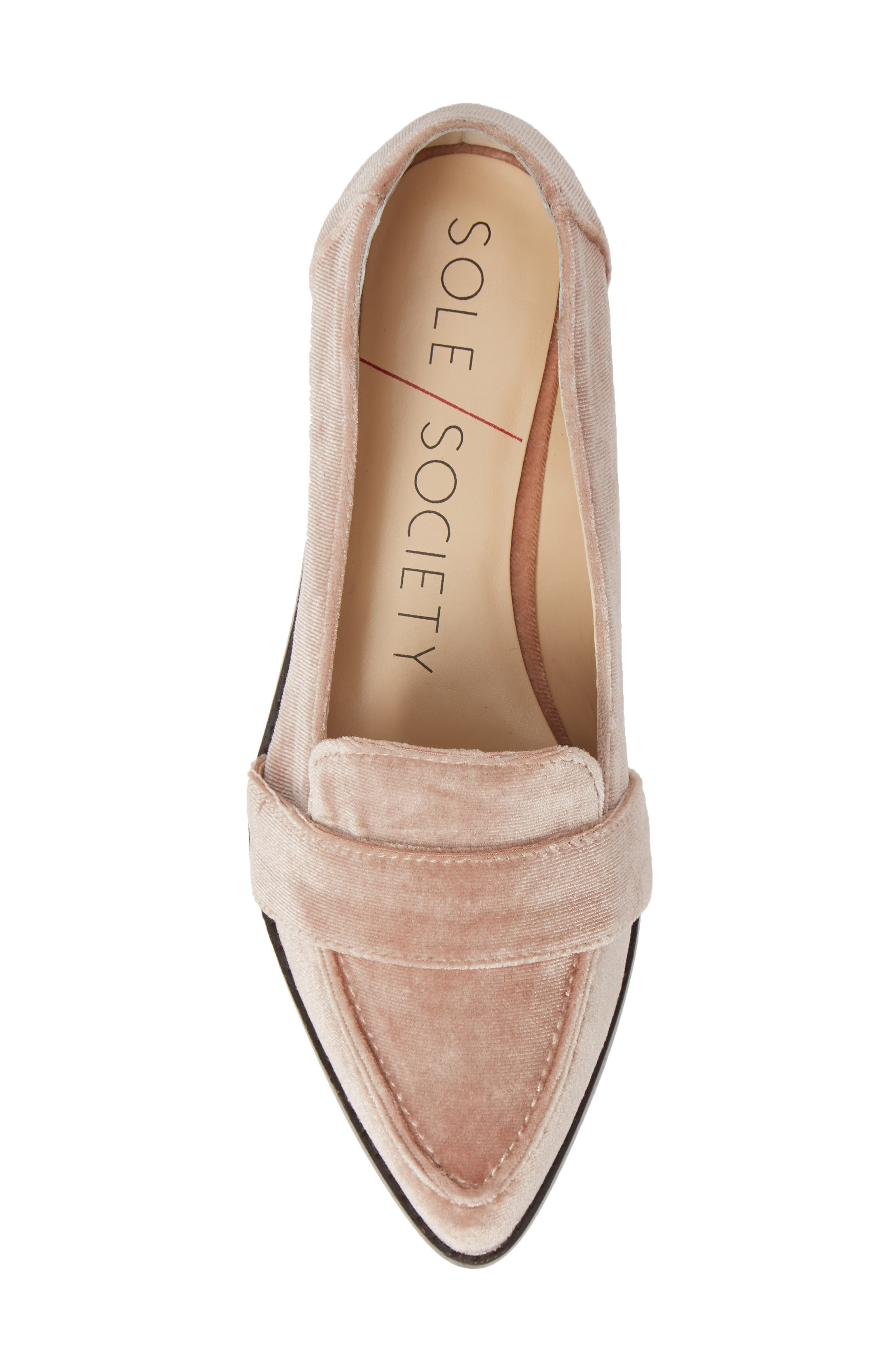 SOLE SOCIETY, Edie Pointy Toe Loafer, Alternate thumbnail 5, color, 682
