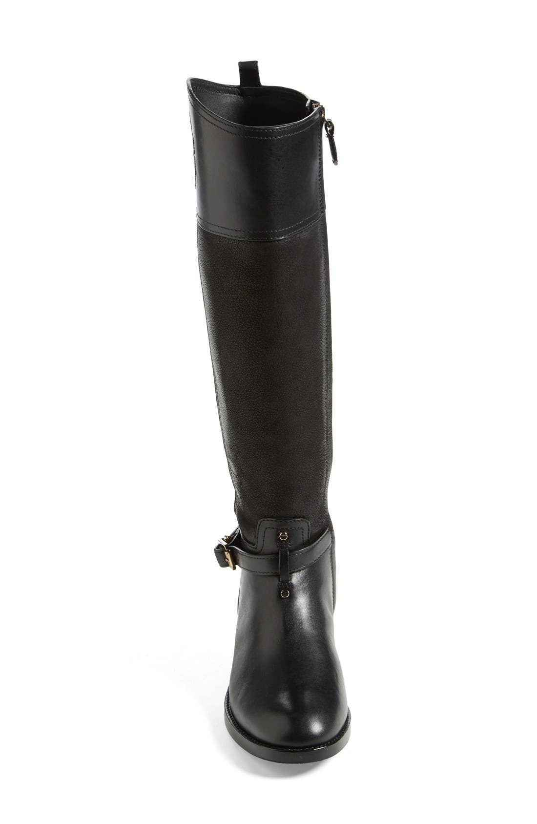 TORY BURCH, 'Simone' Riding Boot, Alternate thumbnail 2, color, 009