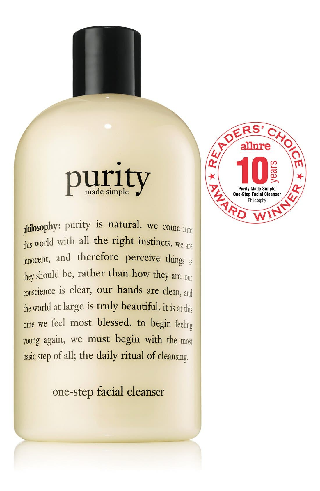PHILOSOPHY, 'purity made simple' one-step facial cleanser, Alternate thumbnail 2, color, NO COLOR