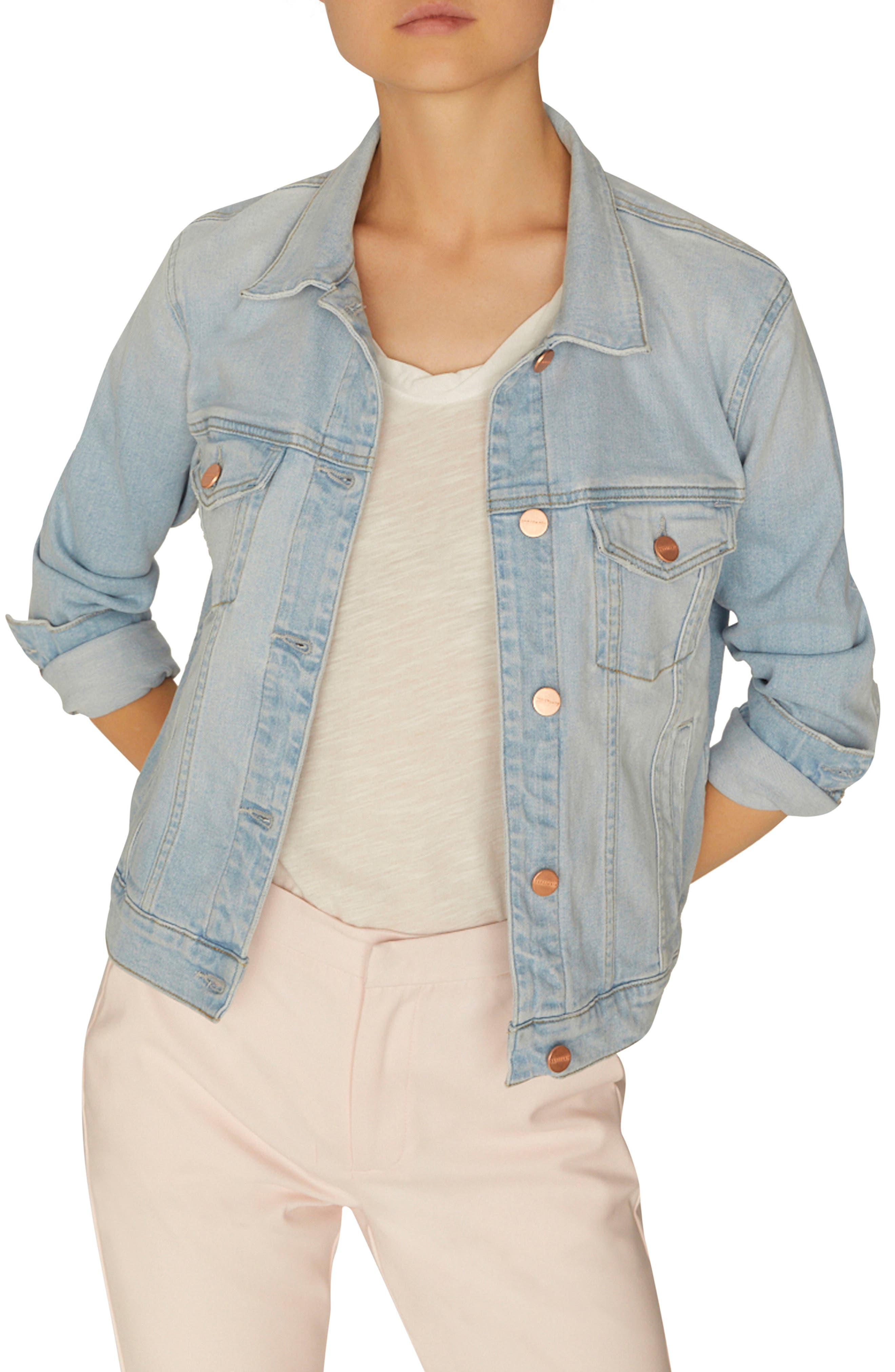 SANCTUARY Kyle Denim Jacket, Main, color, 450