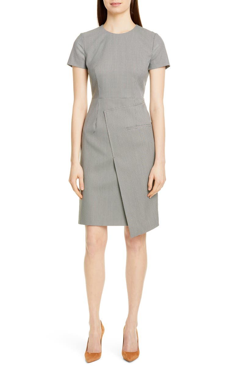 Boss Dresses DURETA MINI HOUNDSTOOTH SHEATH DRESS