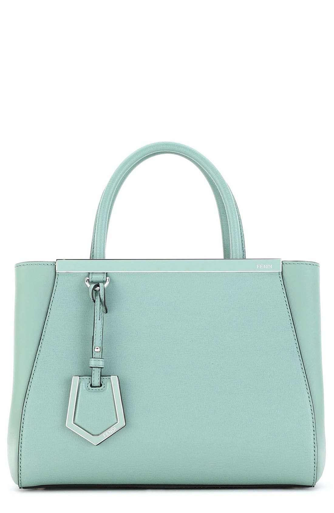 FENDI, 'Petite 2Jours Elite' Leather Shopper, Main thumbnail 1, color, 439