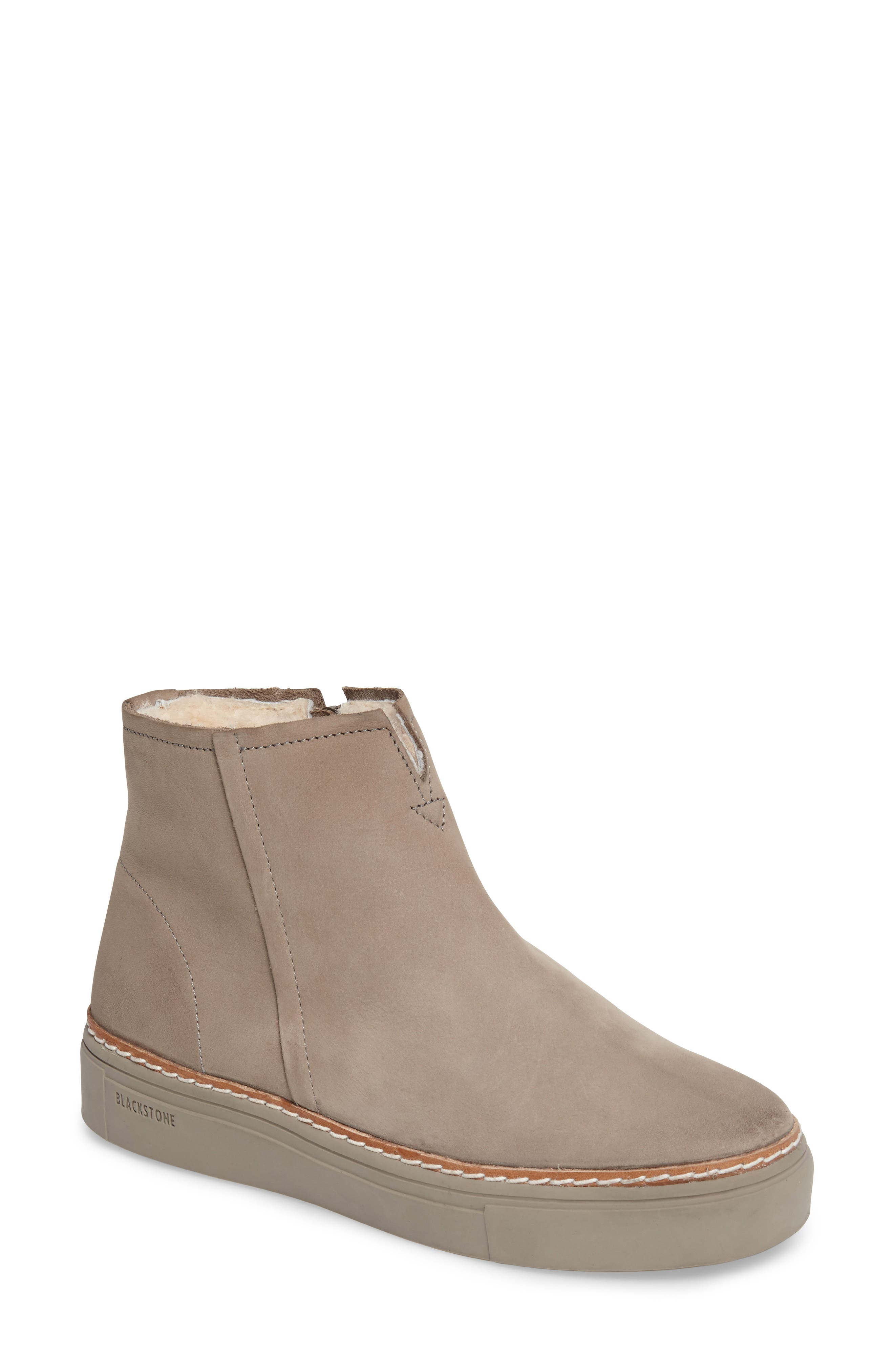 Blackstone Ol27 Genuine Shearling Lined Bootie Grey